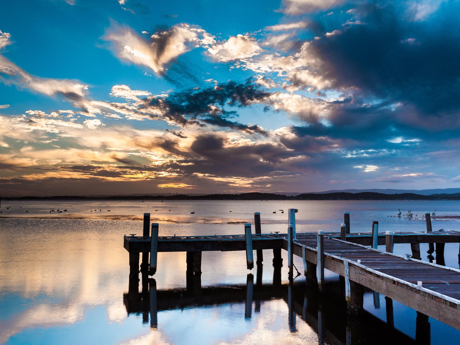 20842 скачать обои Пейзаж, Закат, Небо, Море, Облака - заставки и картинки бесплатно