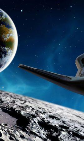 27595 скачать обои Транспорт, Пейзаж, Космос, Шаттл - заставки и картинки бесплатно