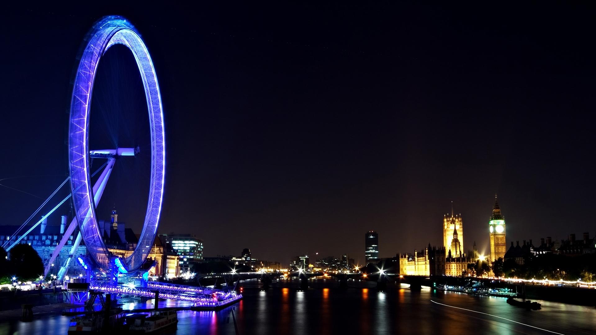 23970 скачать обои Пейзаж, Города, Ночь, Лондон - заставки и картинки бесплатно