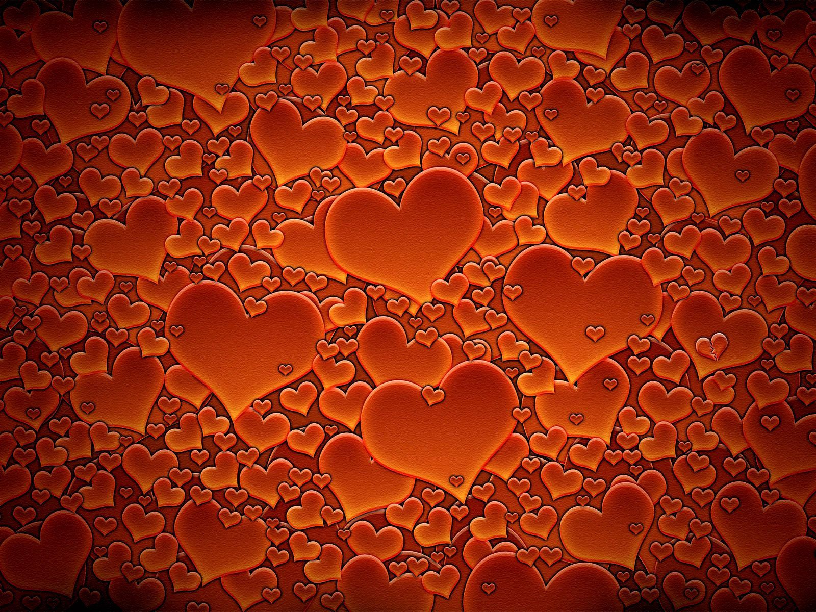 156693 download wallpaper Textures, Texture, Heart, Redhead, Lot screensavers and pictures for free