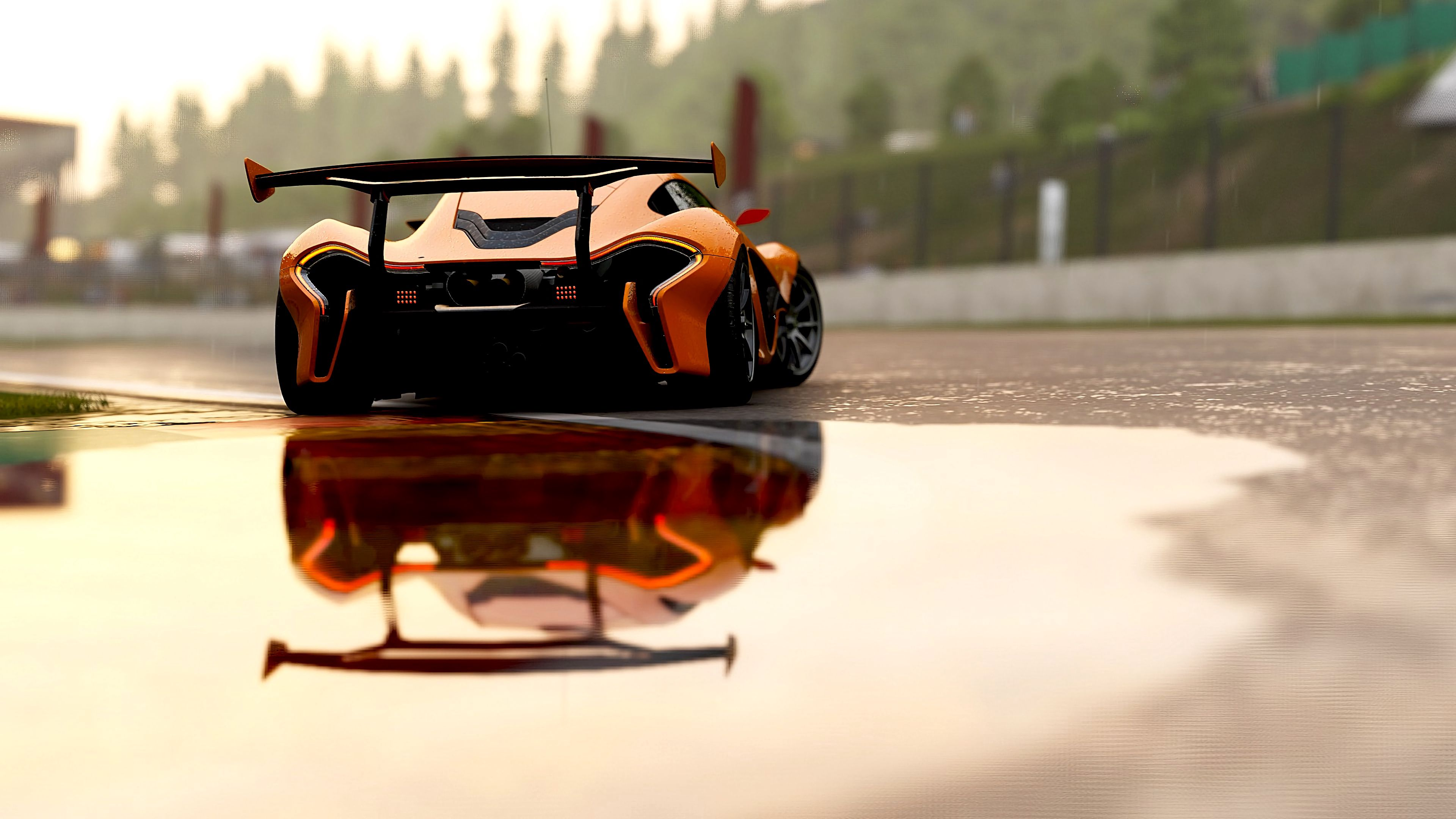 152584 download wallpaper Cars, Mclaren P1, Mclaren, Sports Car, Sports, Races, Back View, Rear View screensavers and pictures for free