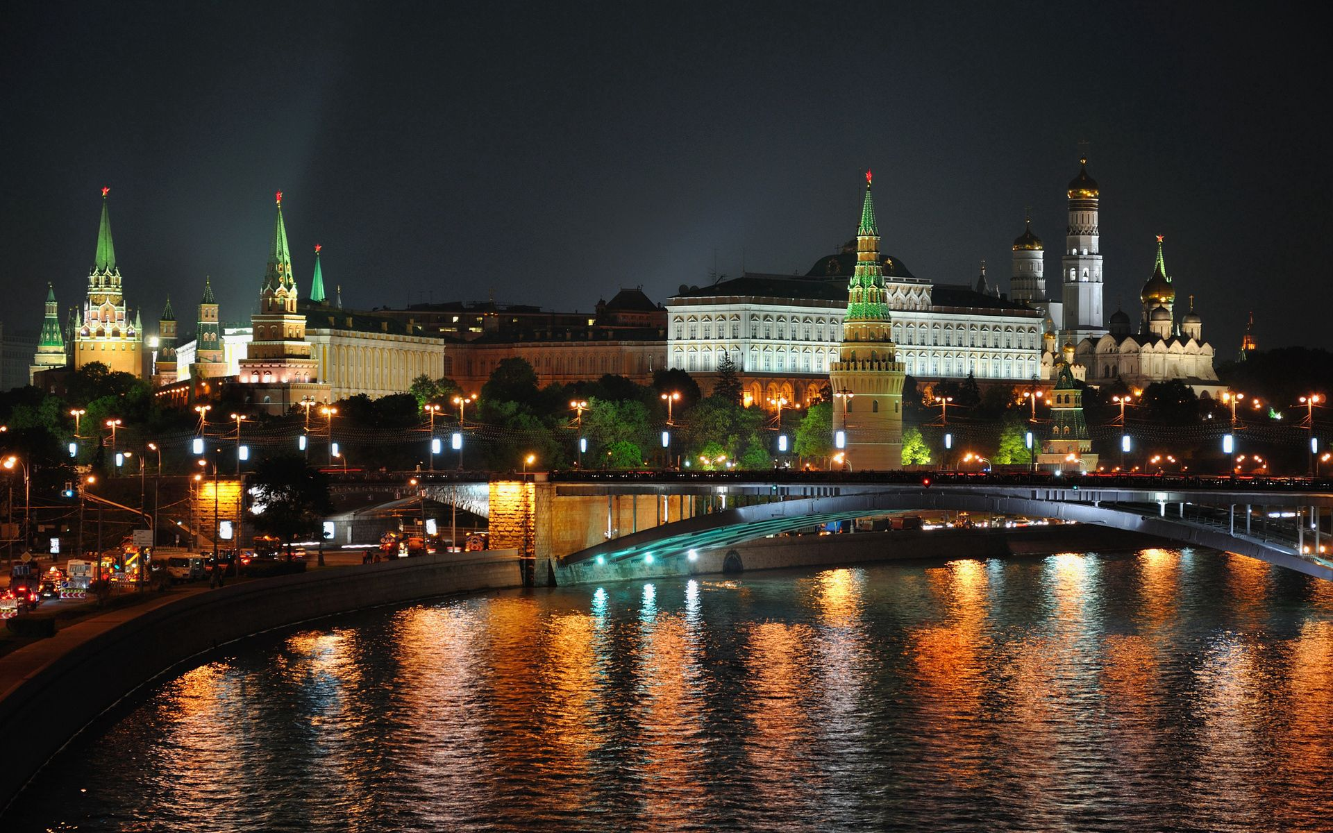 122569 скачать обои Ночь, Москва, Moscow, Город, Огни, Река, Hdr, Города - заставки и картинки бесплатно