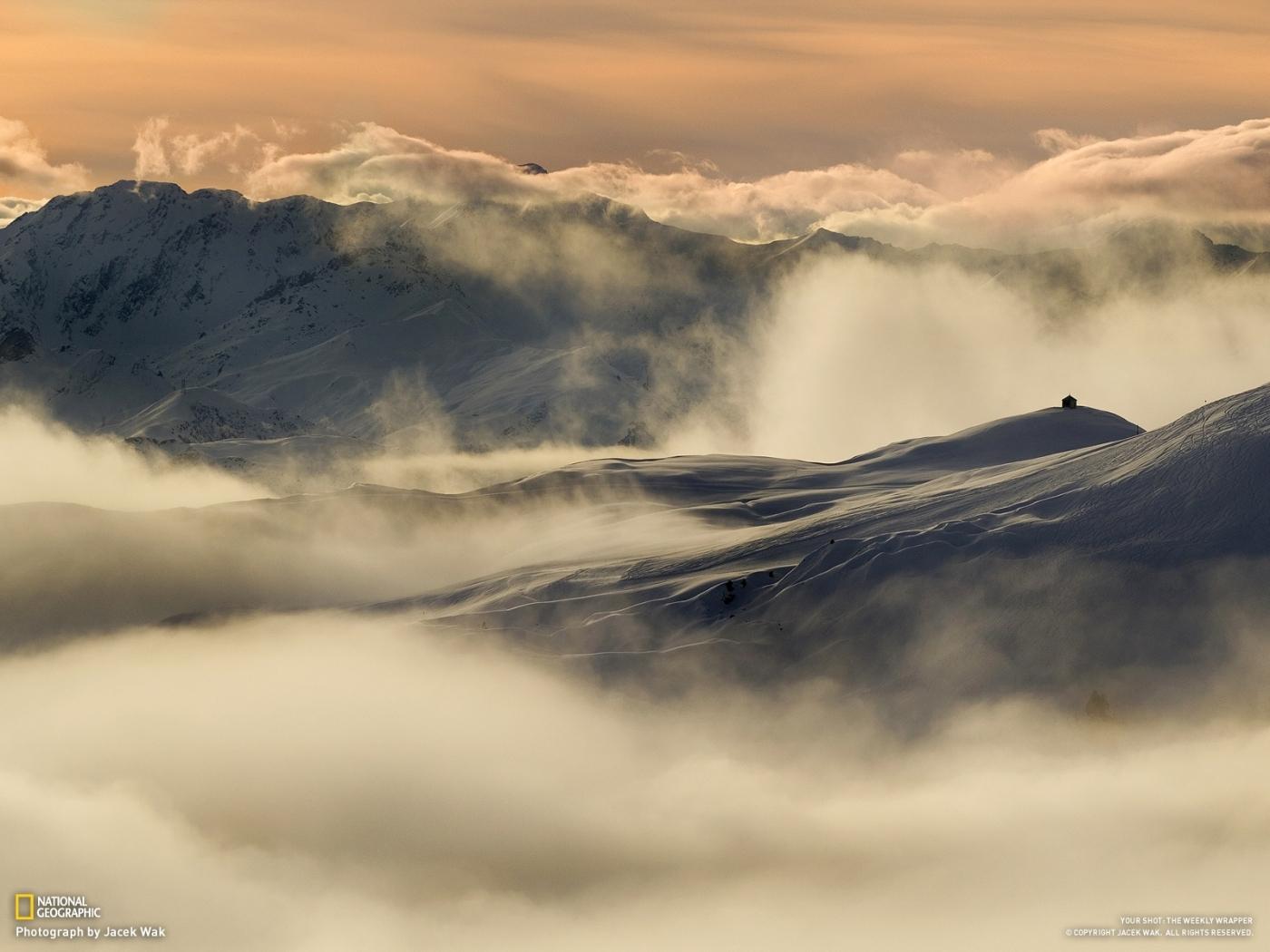 24195 скачать обои Пейзаж, Горы, Облака, Снег - заставки и картинки бесплатно