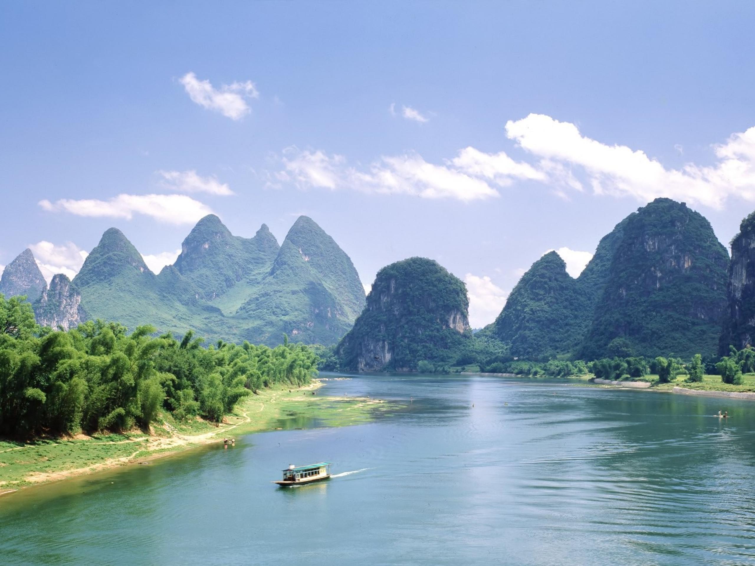 137285壁紙のダウンロード自然, 湖, 泳ぐには, 泳ぐ, 山脈, パームス-スクリーンセーバーと写真を無料で