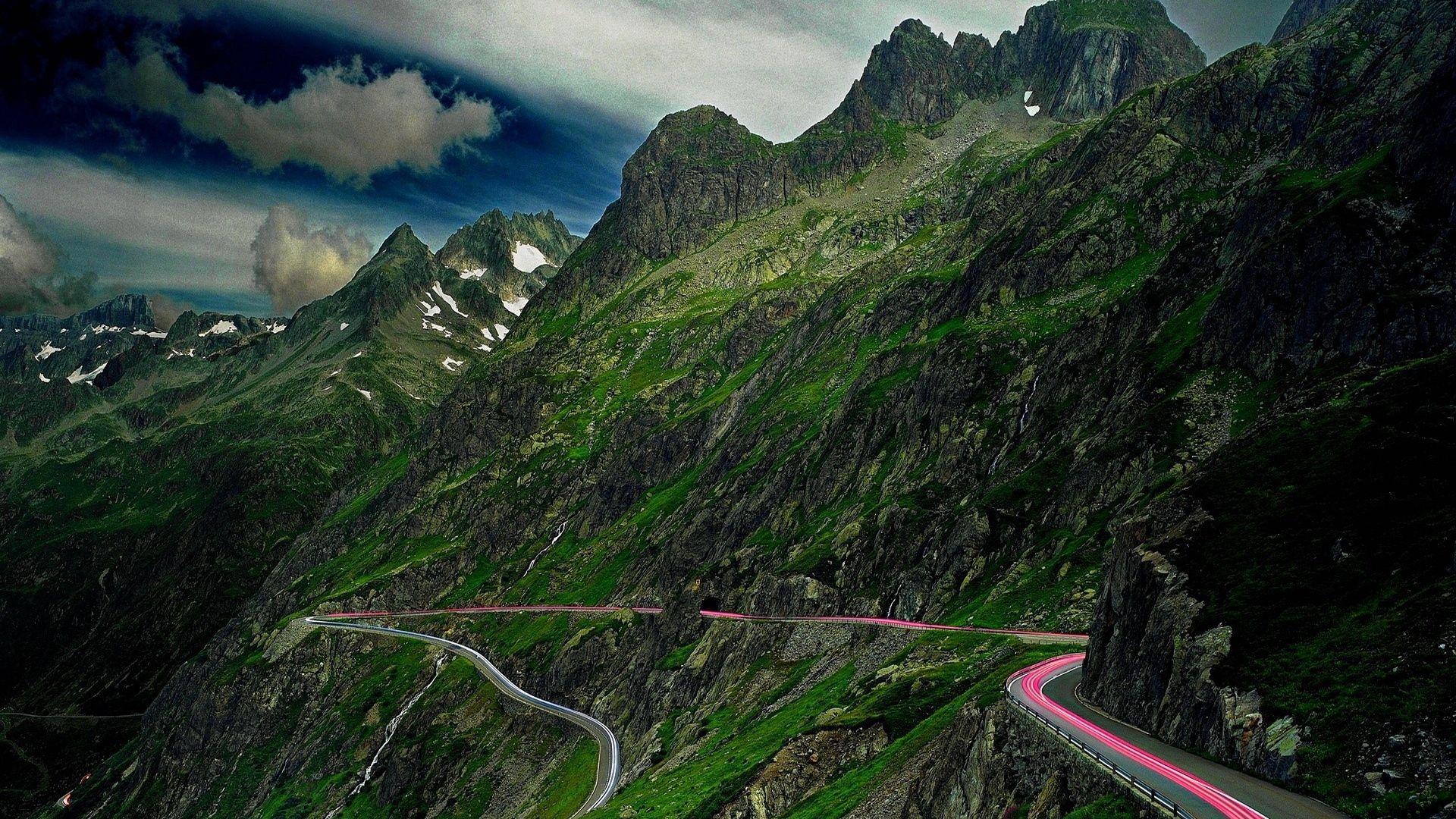 146851 free wallpaper 480x800 for phone, download images Landscape, Nature, Sky, Mountains, Road, Asphalt, Serpentine 480x800 for mobile
