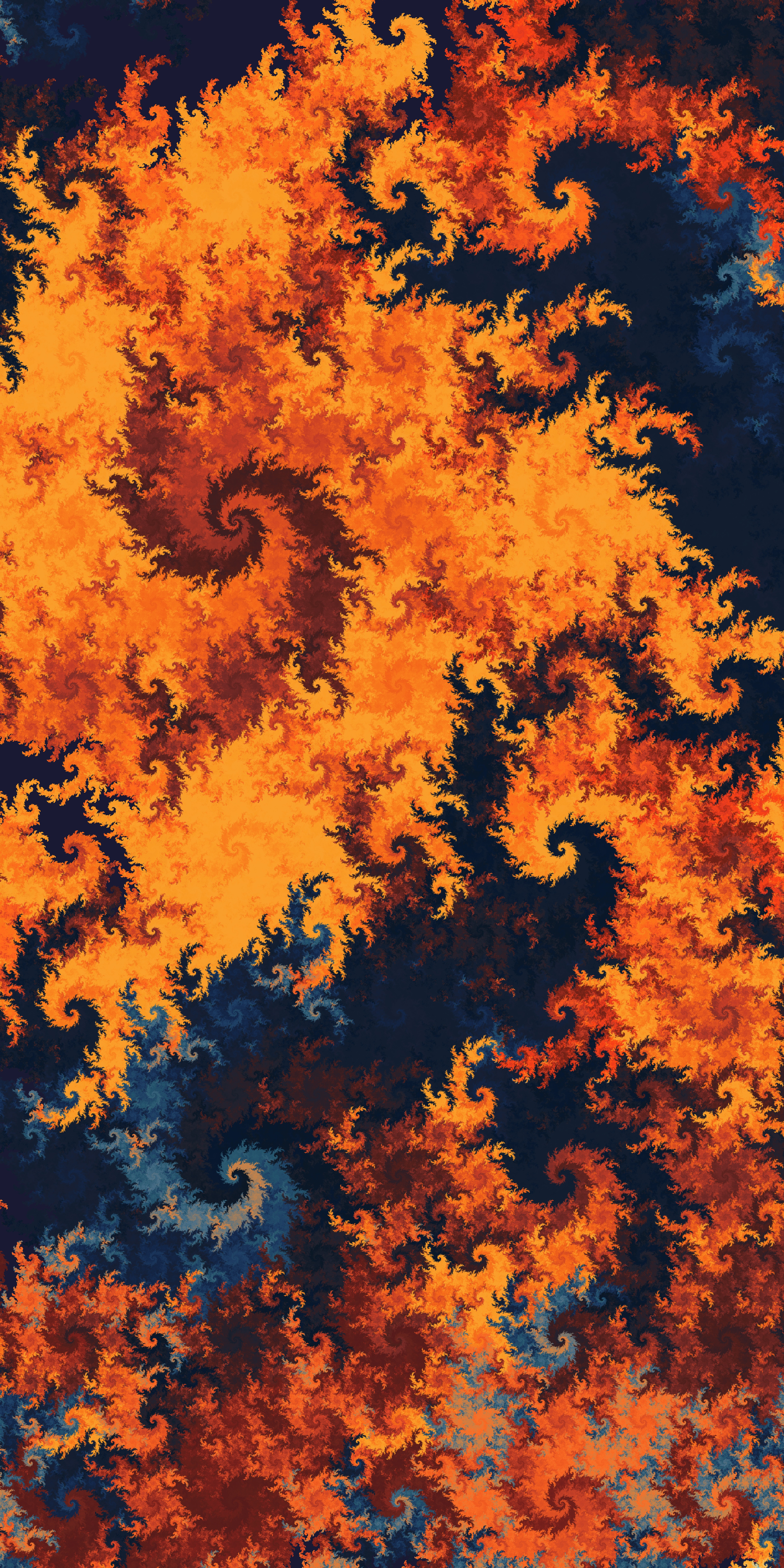 76064 download wallpaper Abstract, Swirling Fractal, Fractal Swirling, Multicolored, Motley, Patterns screensavers and pictures for free