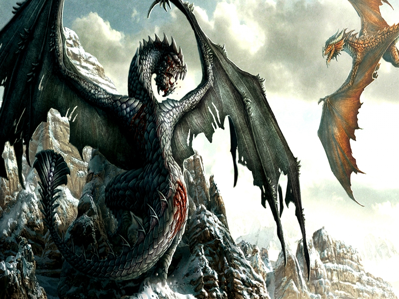 24502 download wallpaper Fantasy, Dragons screensavers and pictures for free