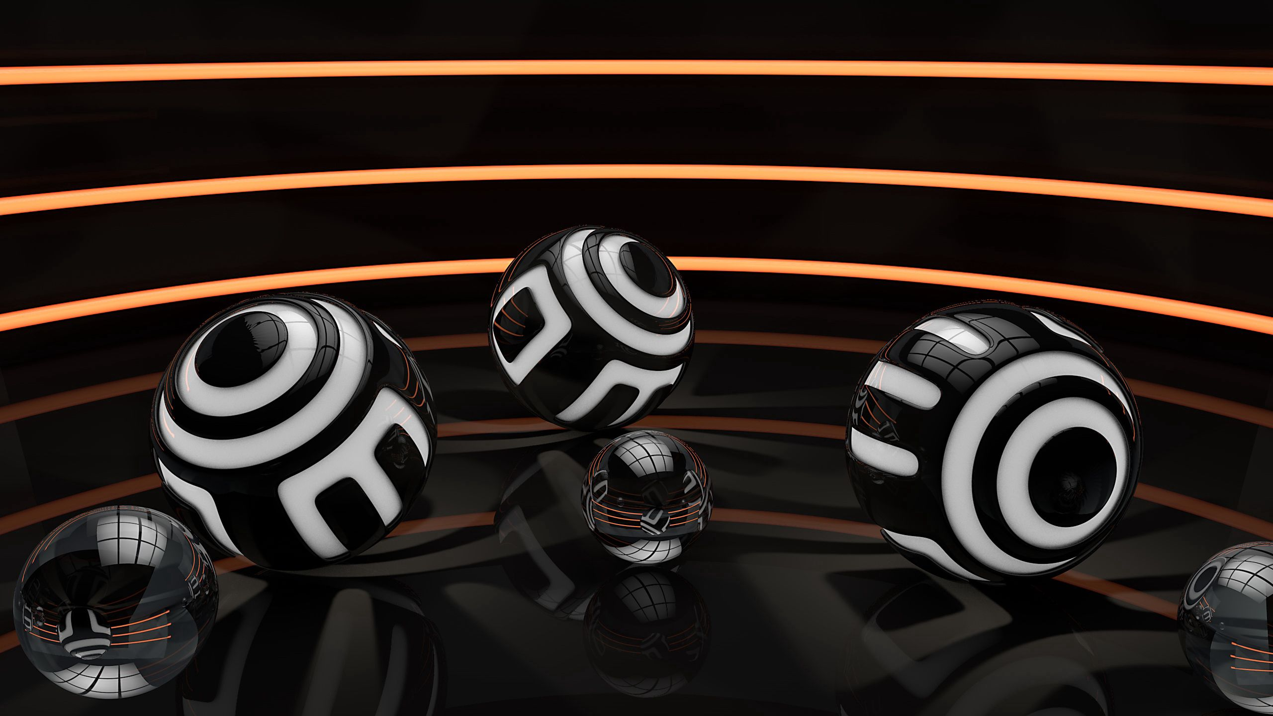 157668 Screensavers and Wallpapers Balls for phone. Download Balls, Background, 3D, Lines, Striped, Space pictures for free