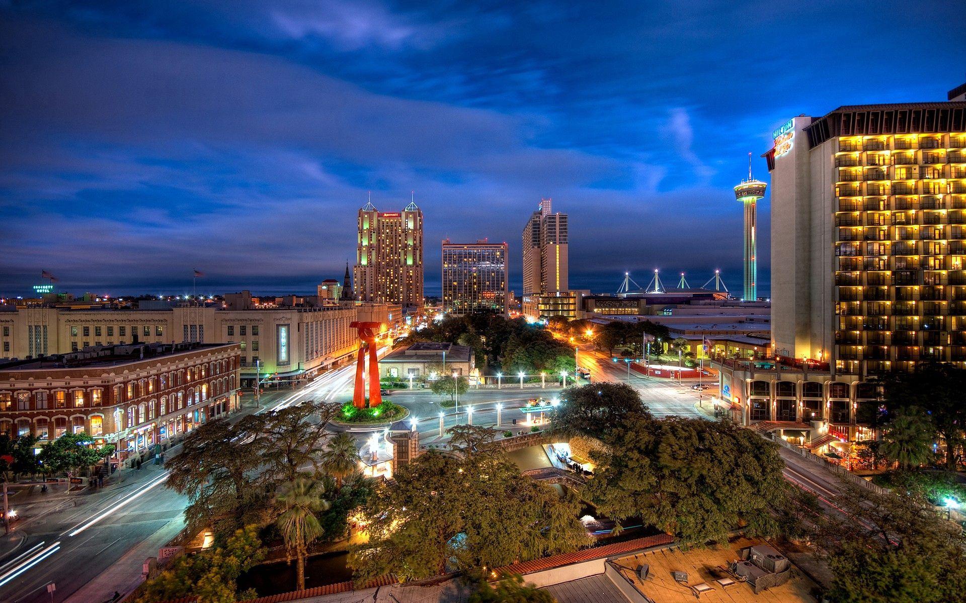 58516 免費下載壁紙 建造, 建筑物, 天空, 夜, 城市的灯光, 城市之光, 摩天大楼, 从上面看, 顶视图, 人类发展报告, Hdr, 城市 屏保和圖片