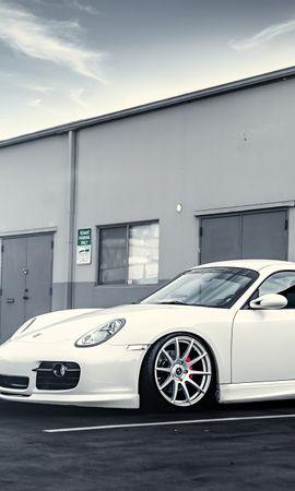 108593 скачать Белые обои на телефон бесплатно, Тачки (Cars), Порш (Porsche), Порше, Белый, Диски Белые картинки и заставки на мобильный