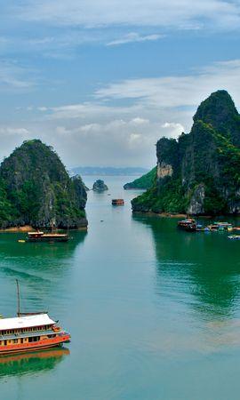 Baixar papel de parede gratuito 78954: papel de parede Natureza, Vietnã, Trópicos, Mar para telefone celular