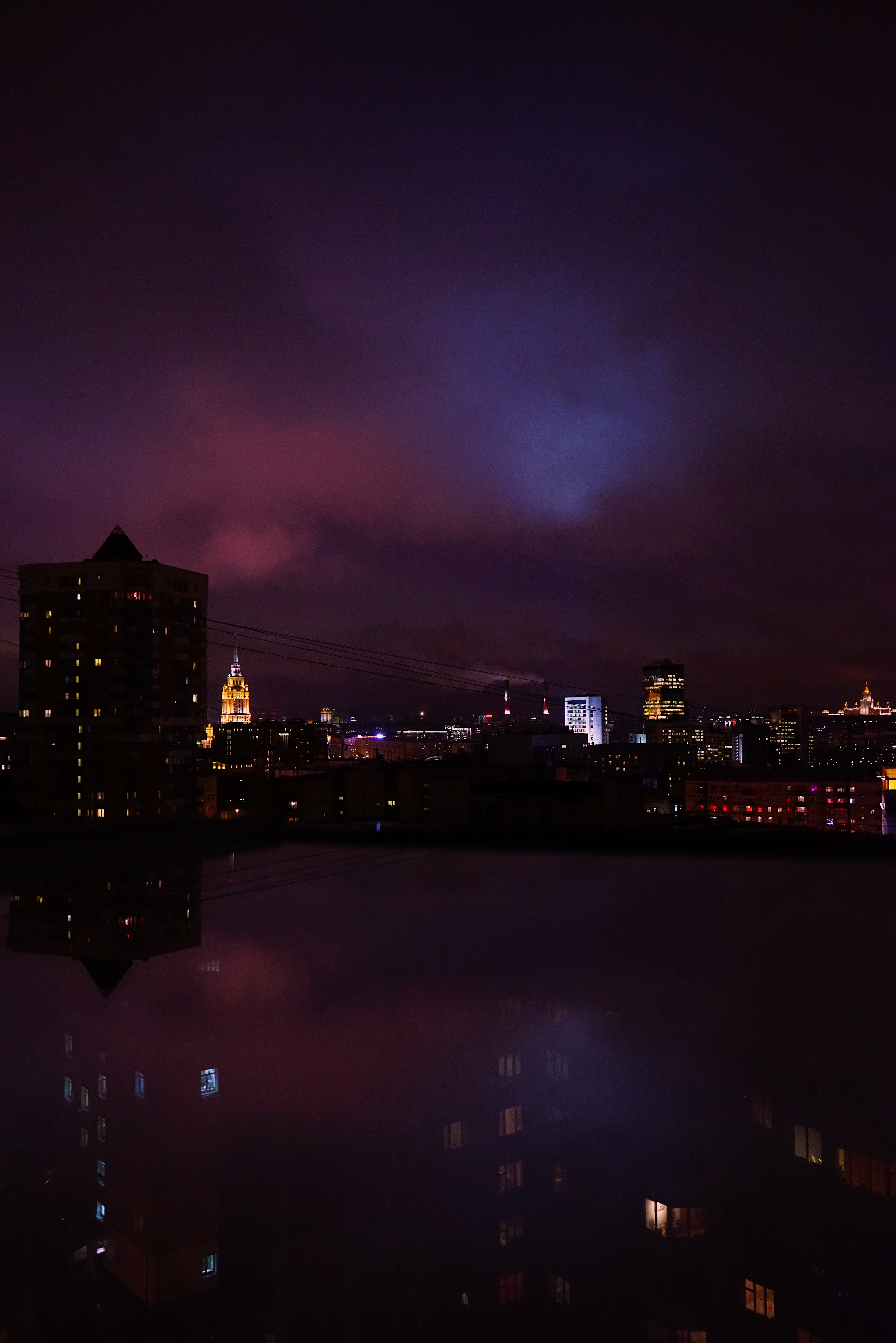 130209 скачать обои Ночной Город, Ночь, Здания, Москва, Россия, Города - заставки и картинки бесплатно