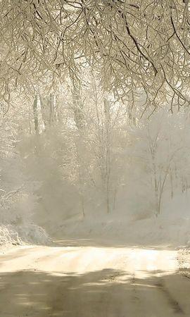 28112 скачать обои Пейзаж, Зима, Деревья, Дороги, Снег - заставки и картинки бесплатно