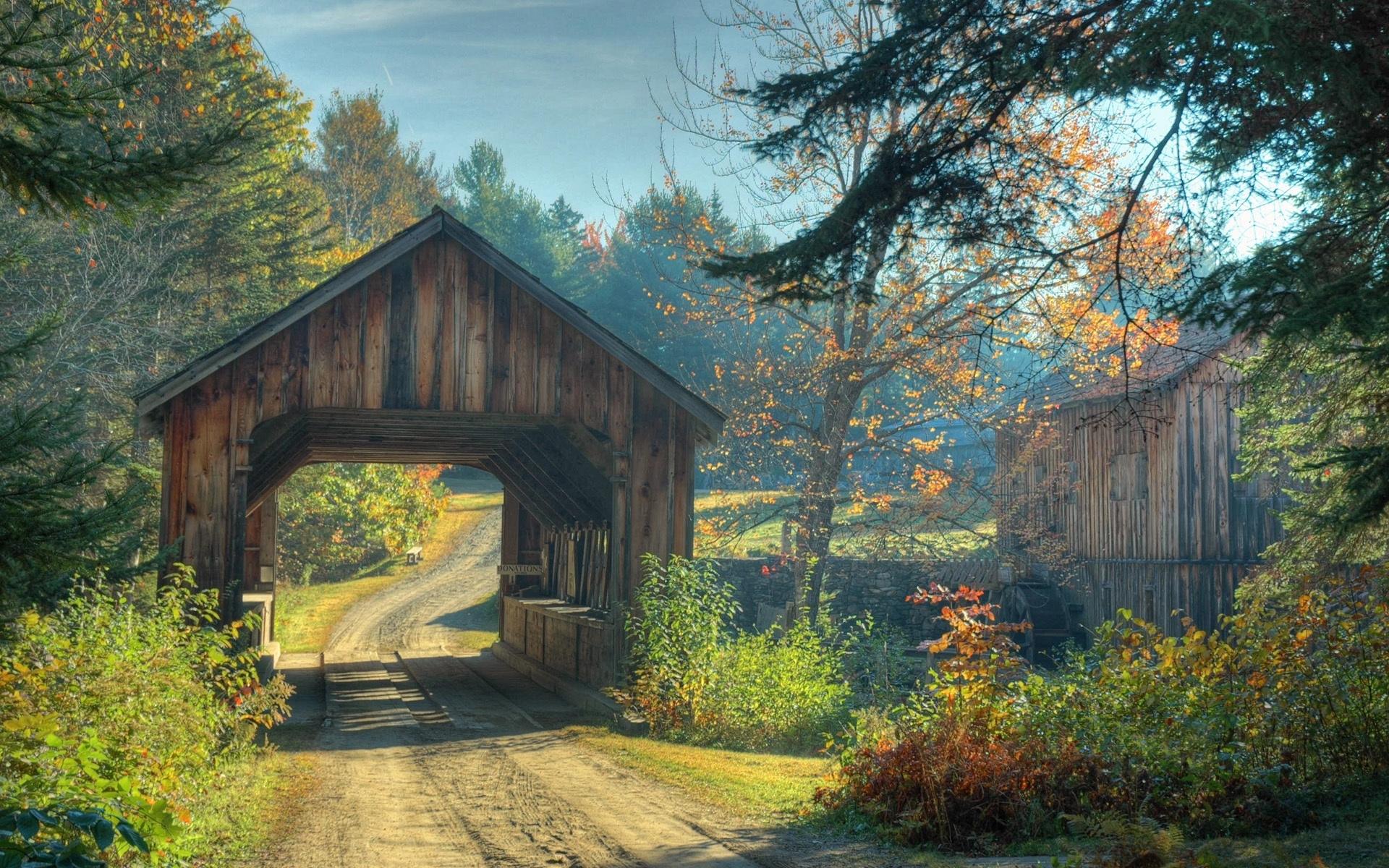23459 скачать обои Пейзаж, Мосты, Деревья, Дороги - заставки и картинки бесплатно