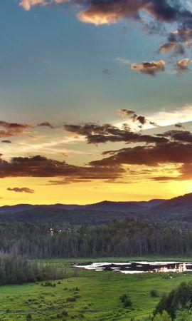 28260 скачать обои Пейзаж, Деревья, Закат, Облака - заставки и картинки бесплатно