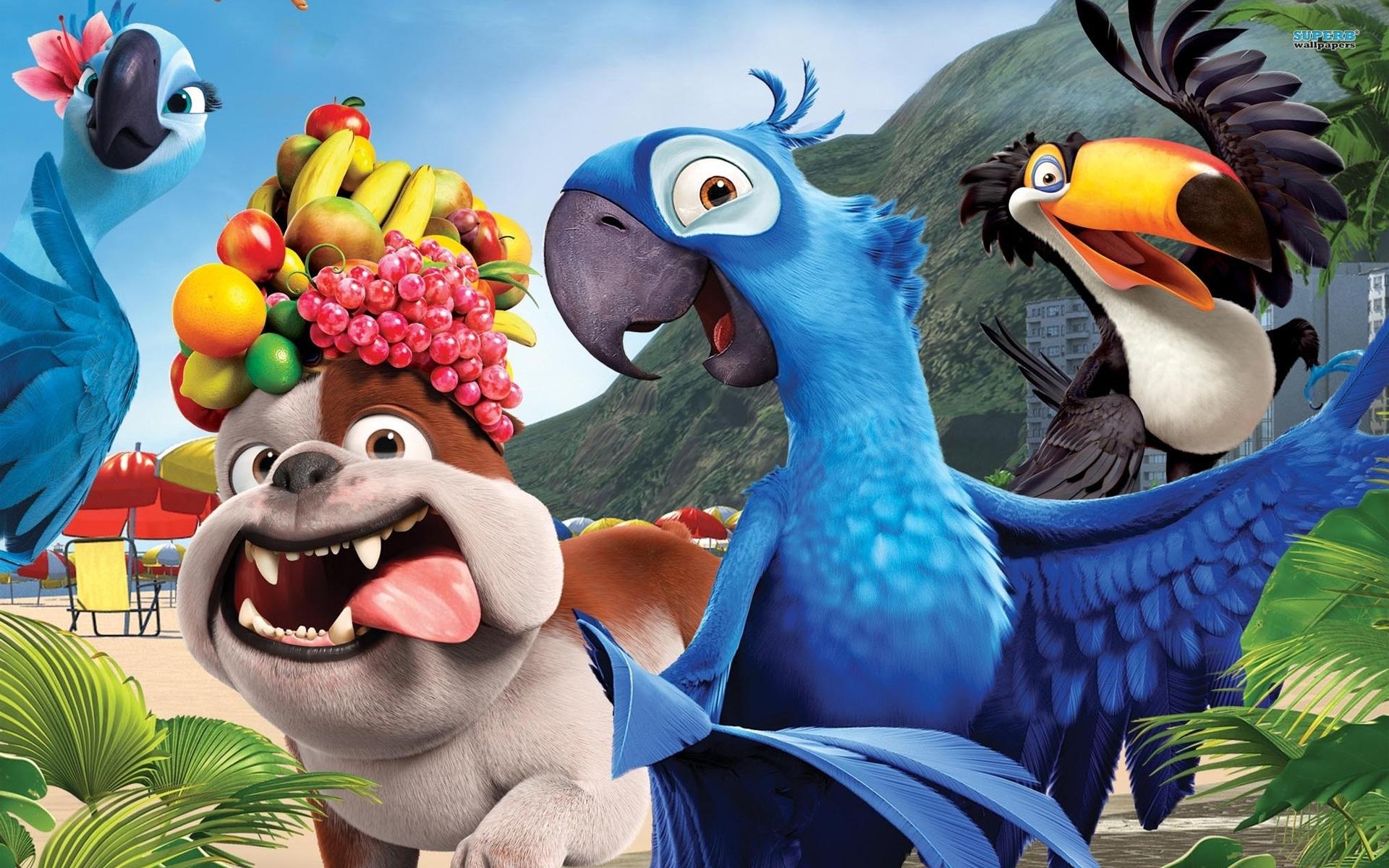 44544 Hintergrundbild herunterladen Bilder, Kino, Tiere, Rio - Bildschirmschoner und Bilder kostenlos
