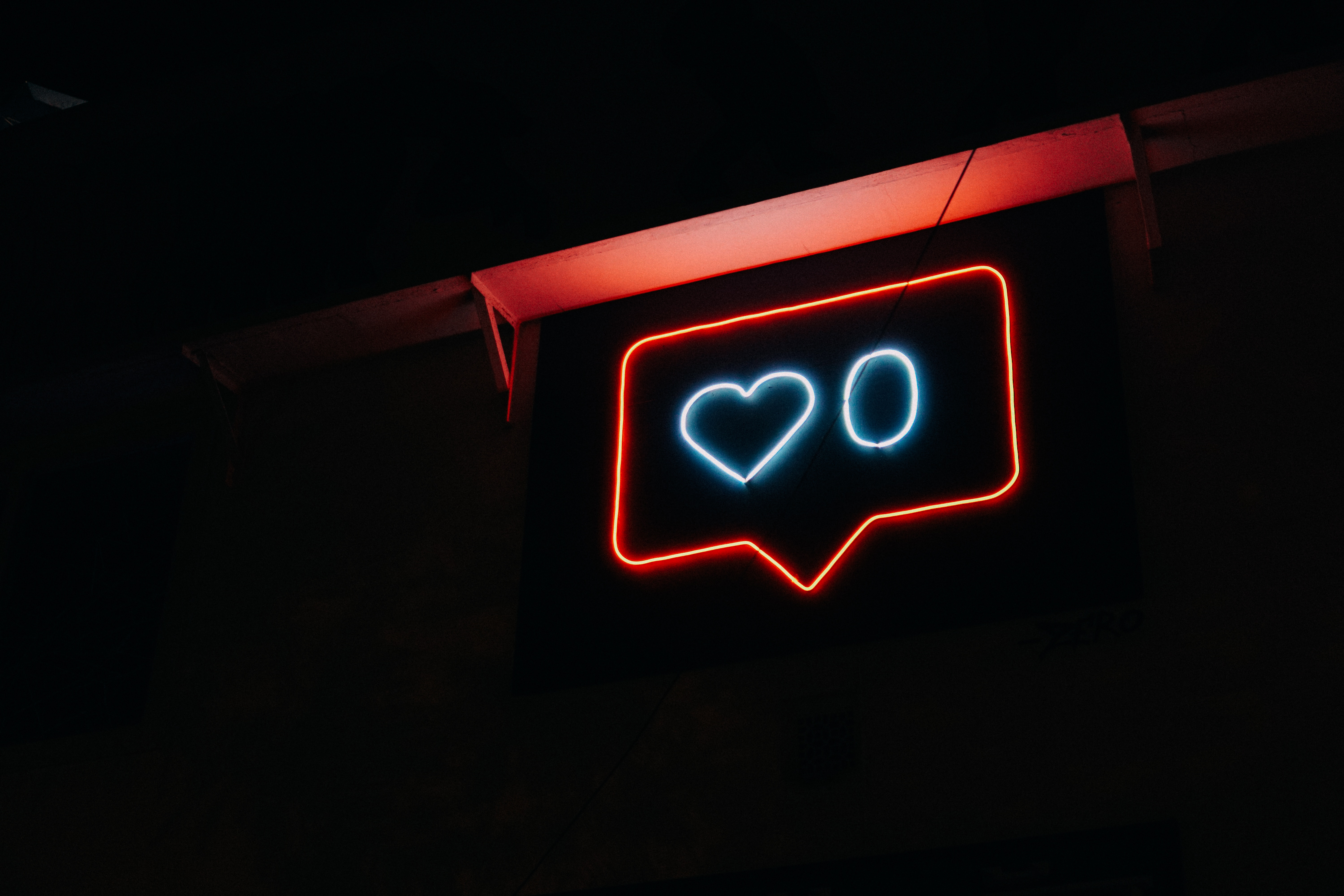 136257 download wallpaper Neon, Dark, Heart, Like screensavers and pictures for free