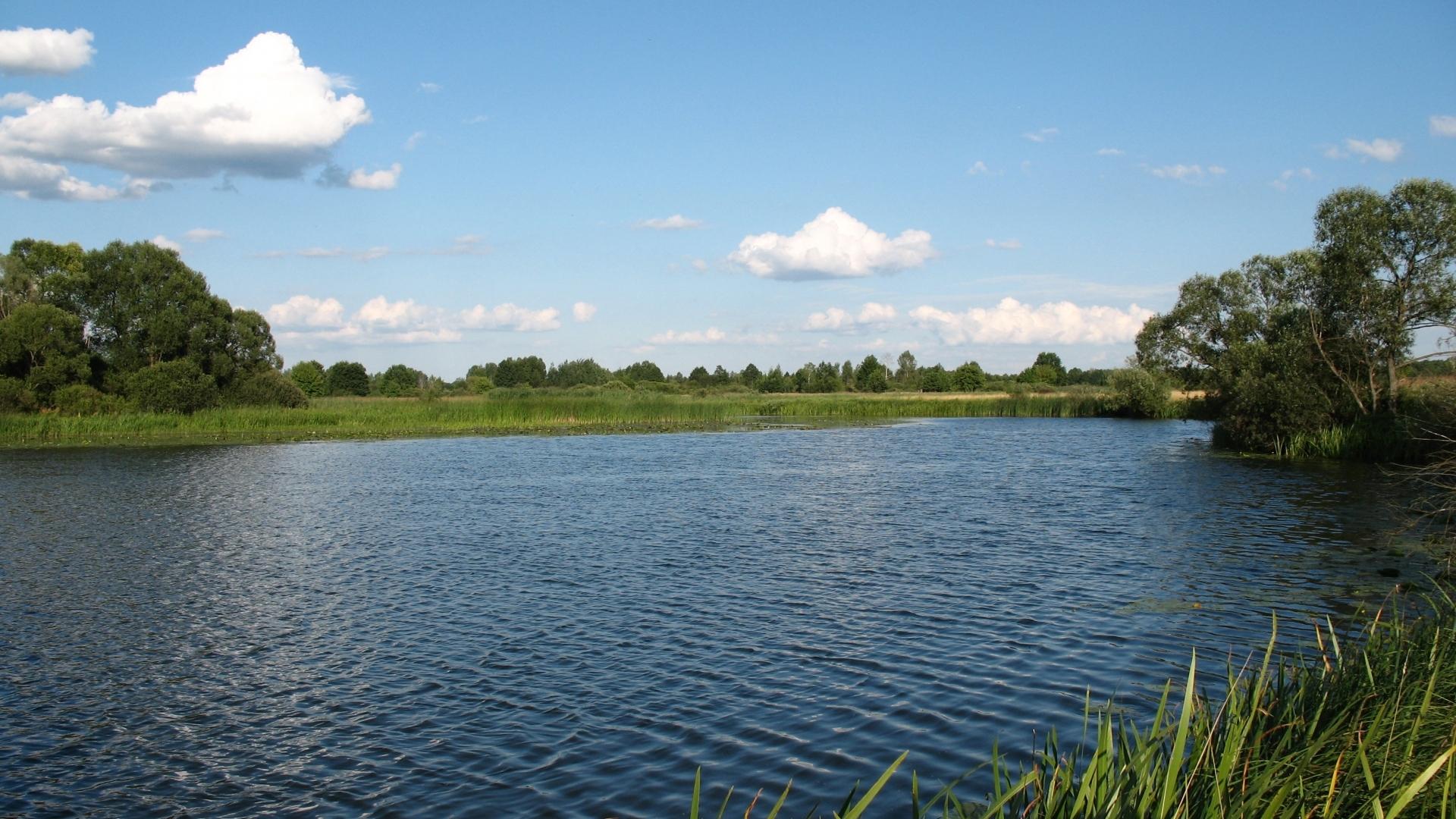 24827 скачать обои Пейзаж, Река, Облака - заставки и картинки бесплатно