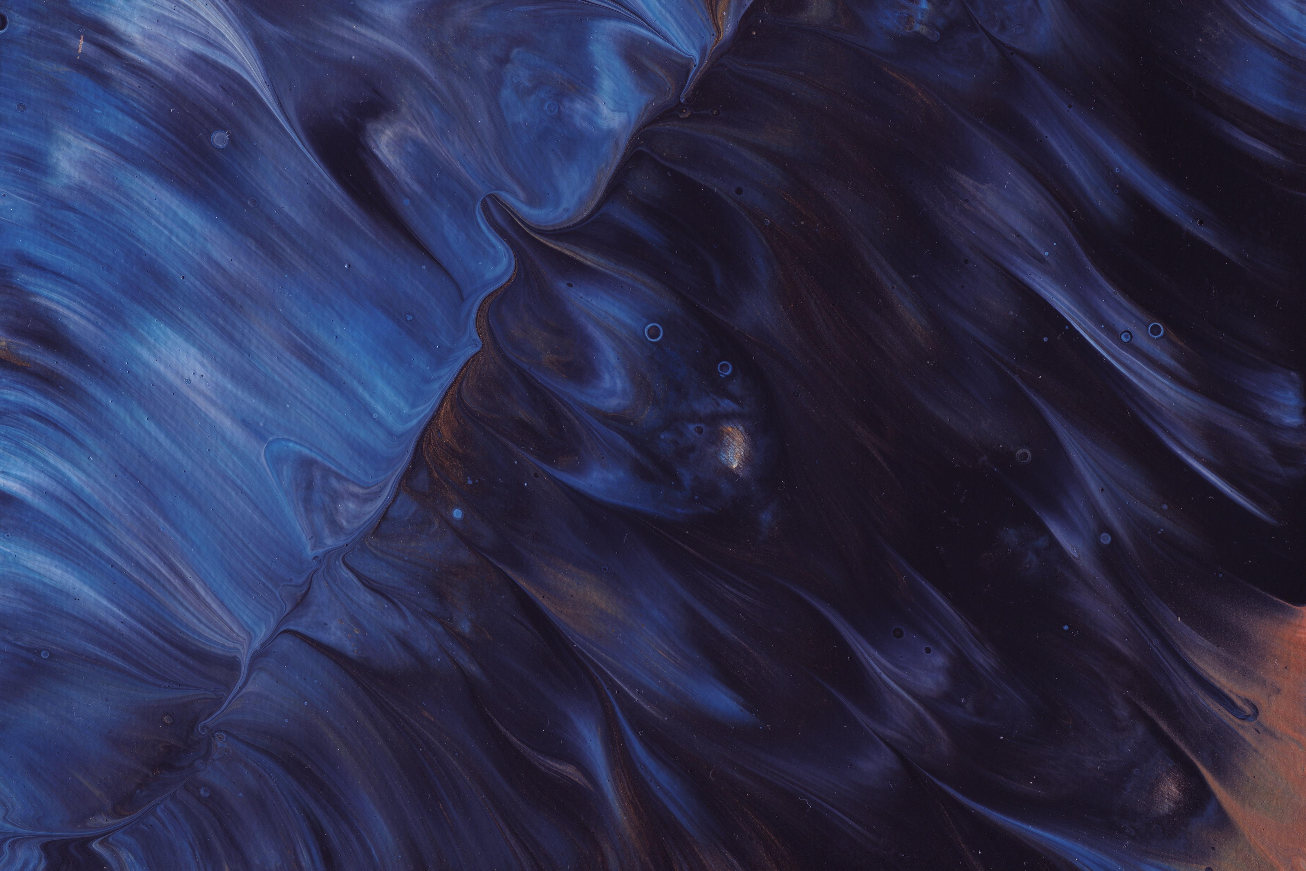 84830 免費下載壁紙 抽象, 画, 油漆, 液体, 离婚, 蓝色的, 黑暗的, 黑暗 屏保和圖片