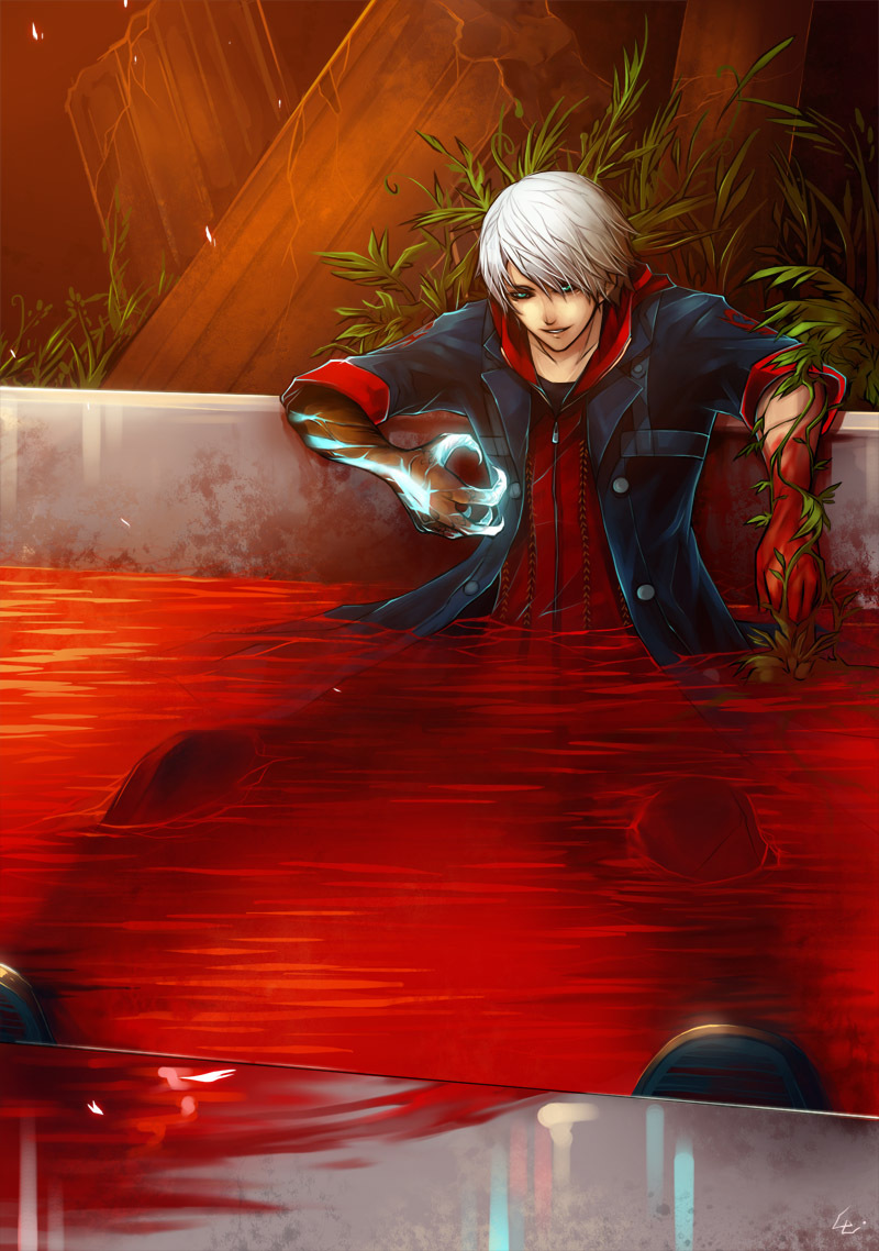 14645 download wallpaper Anime, Men, Blood screensavers and pictures for free