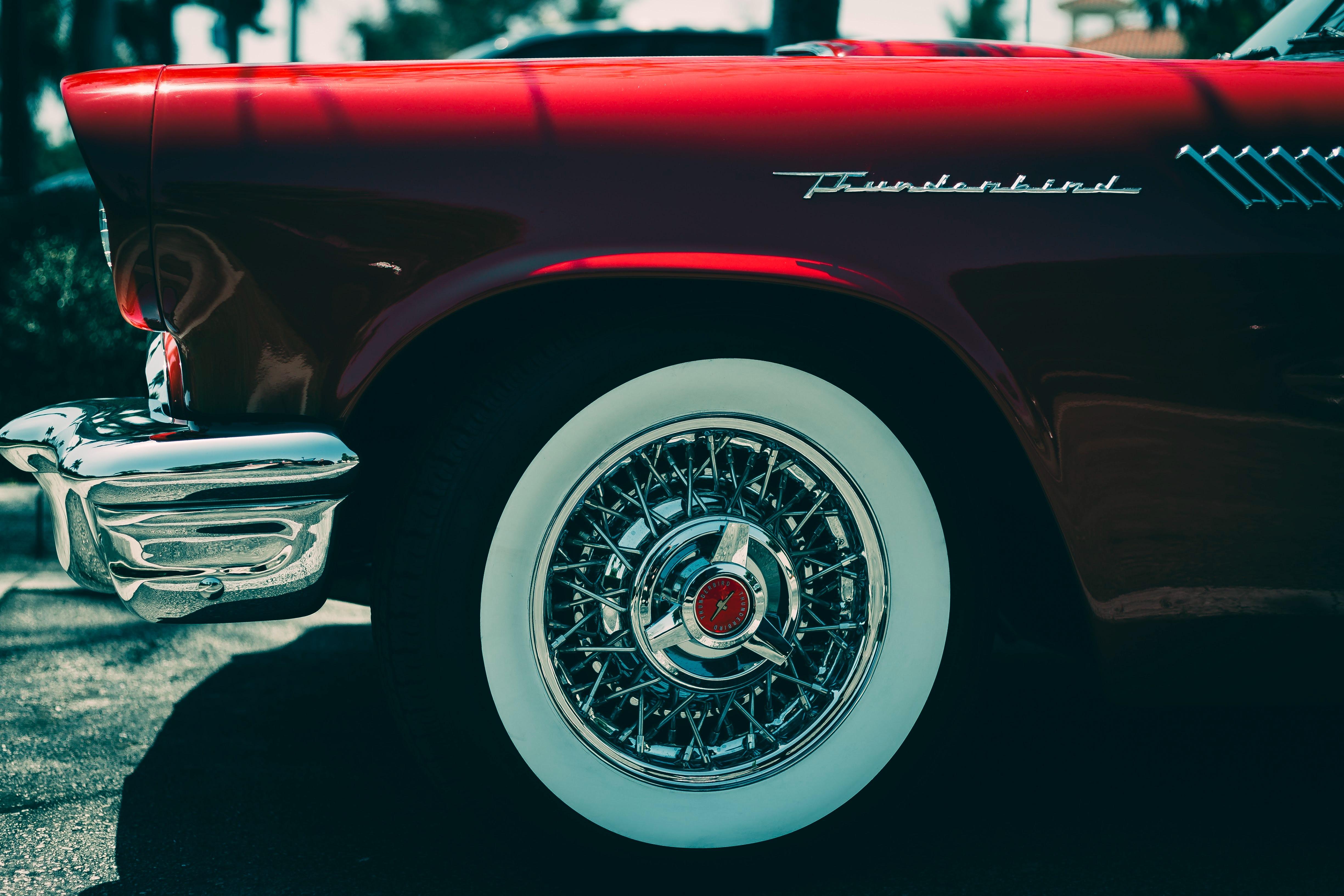 78216 Hintergrundbild herunterladen Ford, Cars, Rad, Stoßstange, Ford Donnervogel, Ford Thunderbird - Bildschirmschoner und Bilder kostenlos