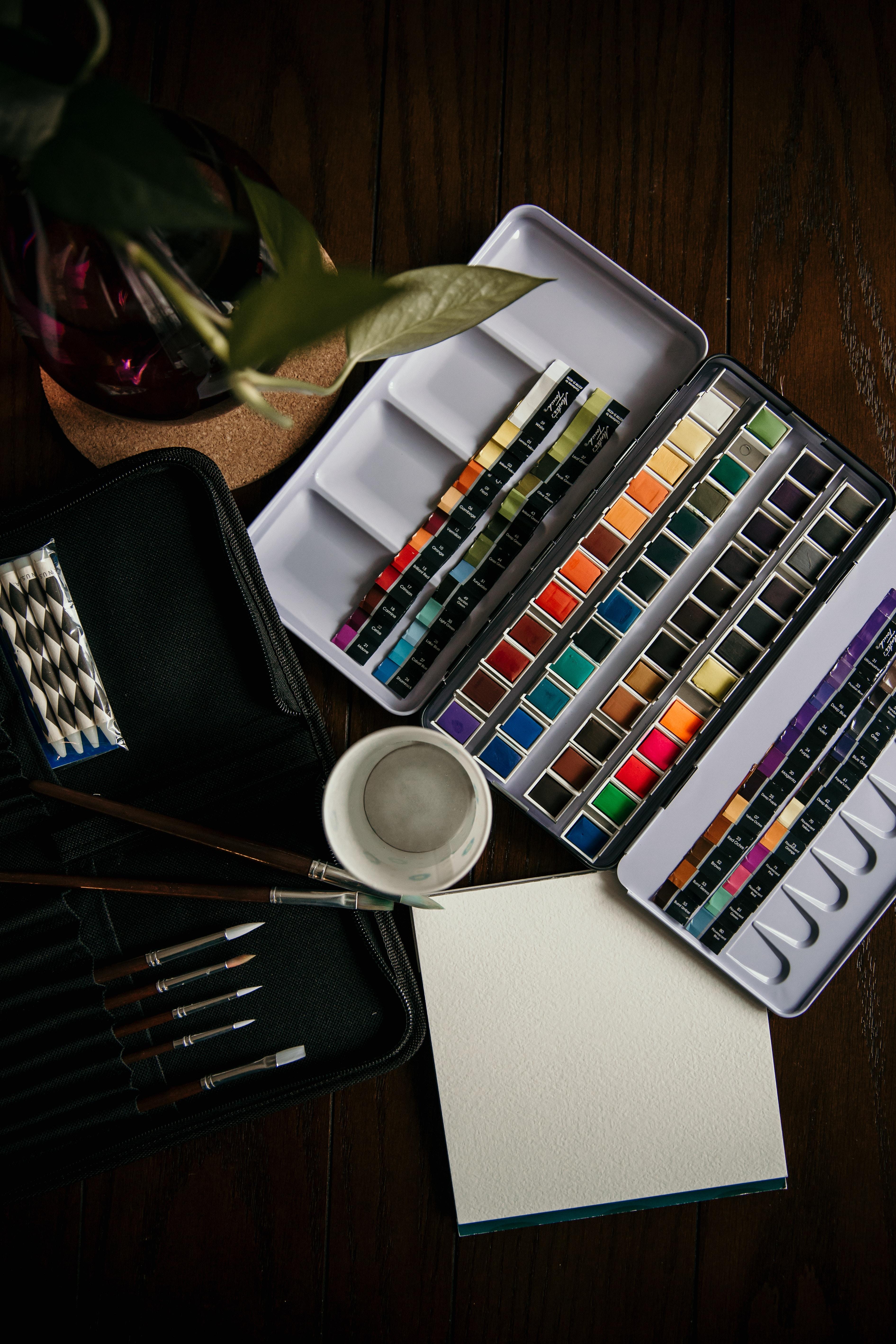 145026 Hintergrundbild herunterladen Künstler, Verschiedenes, Sonstige, Farben, Bürsten, Aquarell - Bildschirmschoner und Bilder kostenlos