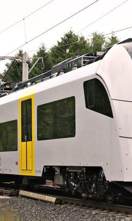 141030 скачать обои Разное, Трамвай, Транспорт, Железная Дорога, Лес - заставки и картинки бесплатно