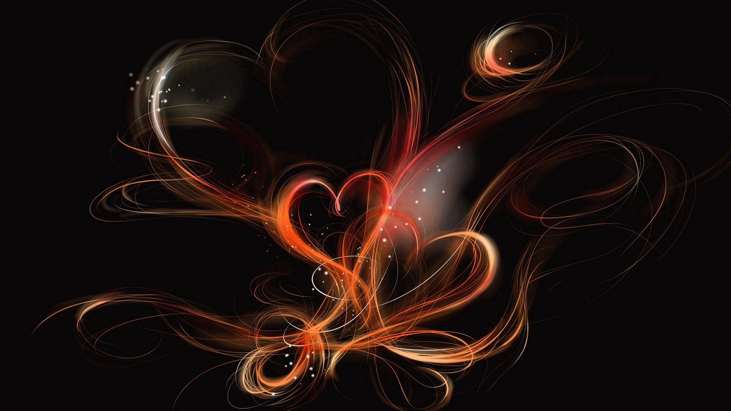 51132 скачать обои Любовь, Сердце, Пелена, Фон, Темный, Дым - заставки и картинки бесплатно