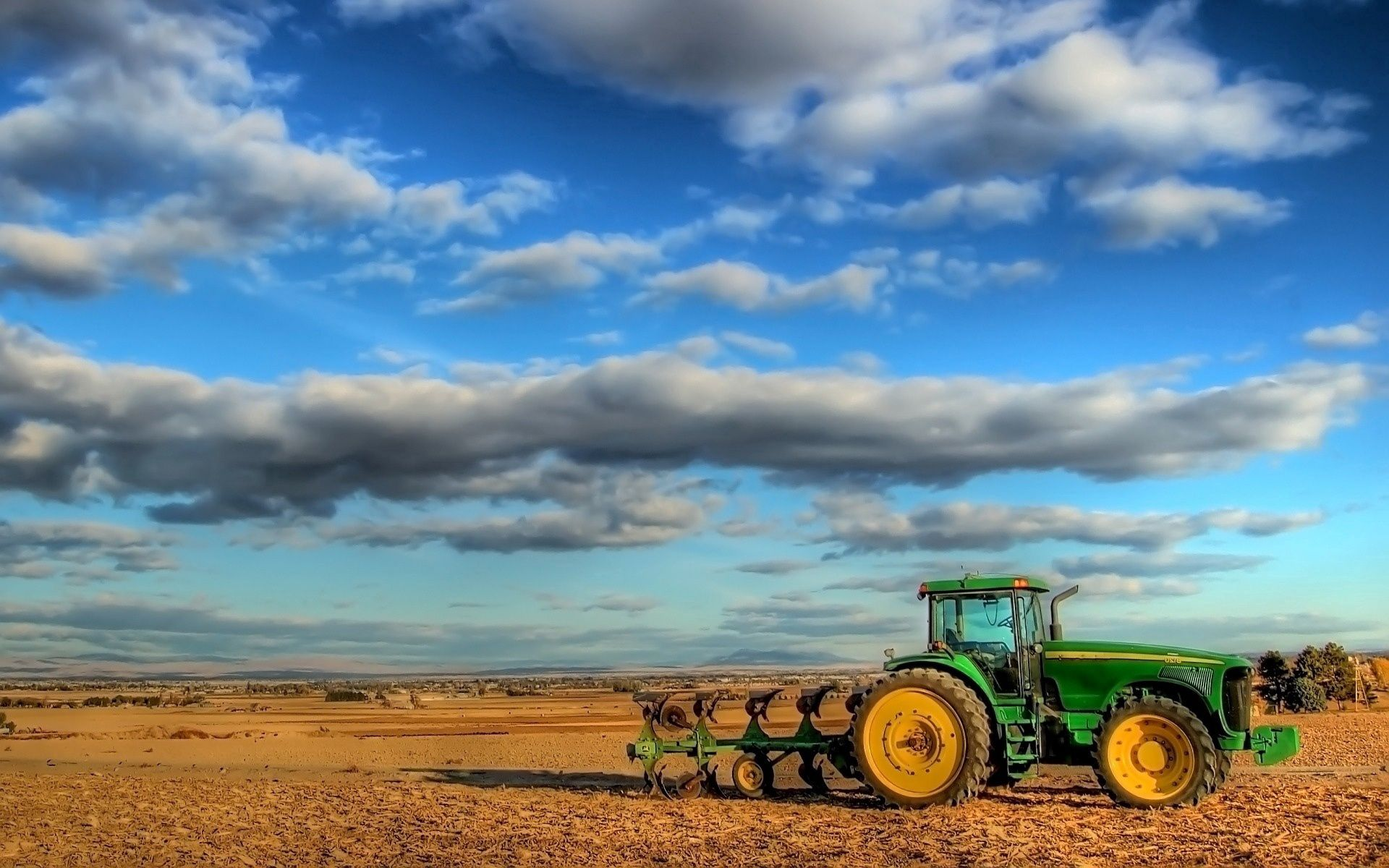 114884 Screensavers and Wallpapers Agriculture for phone. Download Nature, Clouds, Field, Tractor, Agriculture, Plowing pictures for free