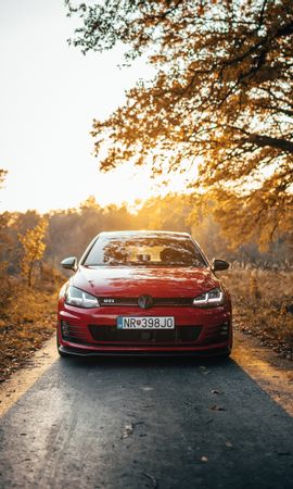 95125 Screensavers and Wallpapers Volkswagen for phone. Download Cars, Volkswagen Golf Gti, Volkswagen, Car, Machine, Front View pictures for free