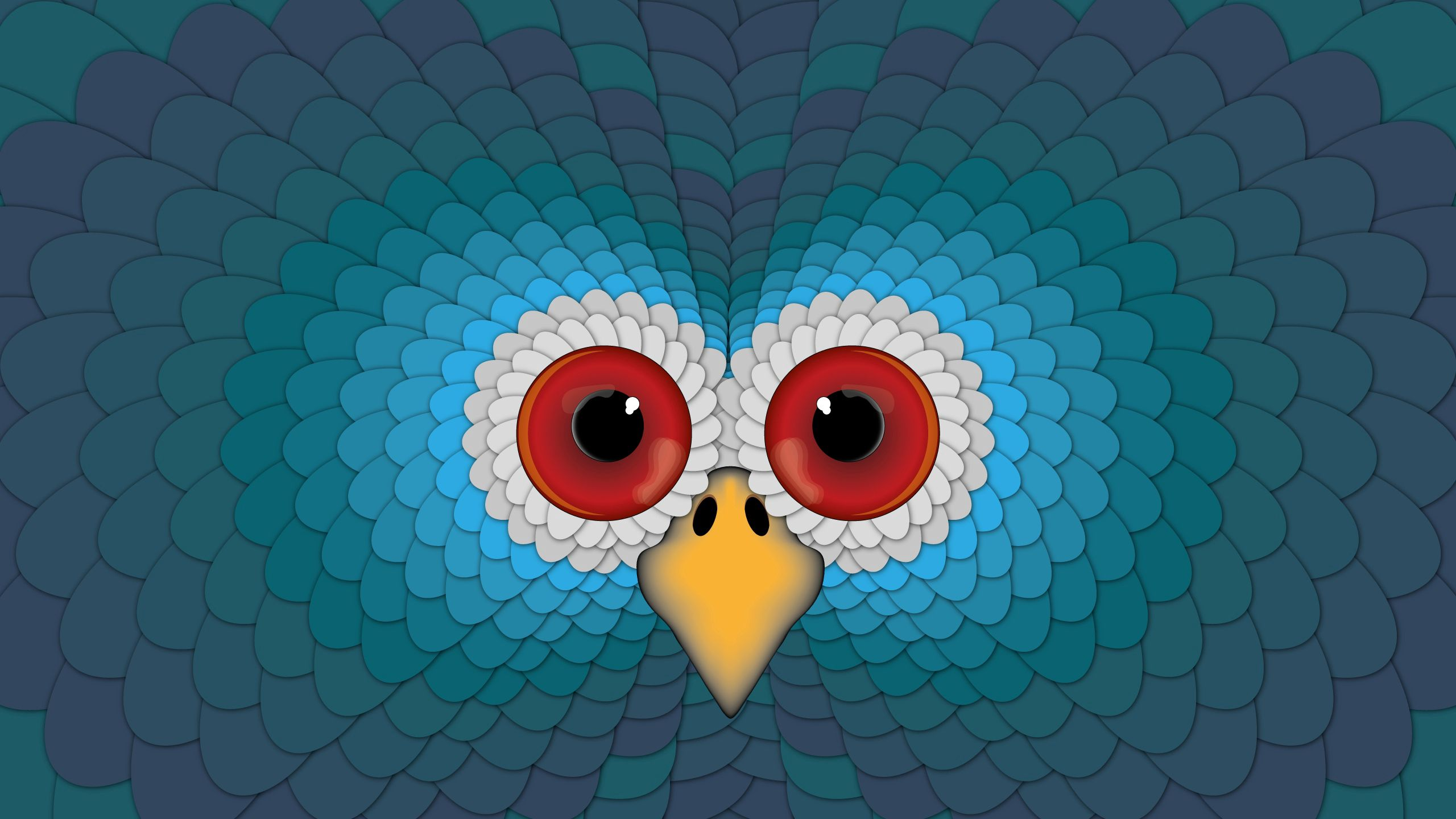 125616 download wallpaper Vector, Owl, Eyes, Beak, Bright, Surface screensavers and pictures for free