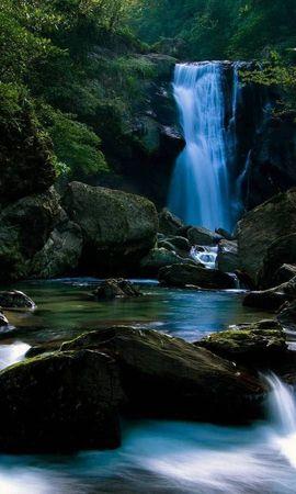 19837 скачать обои Пейзаж, Река, Водопады - заставки и картинки бесплатно