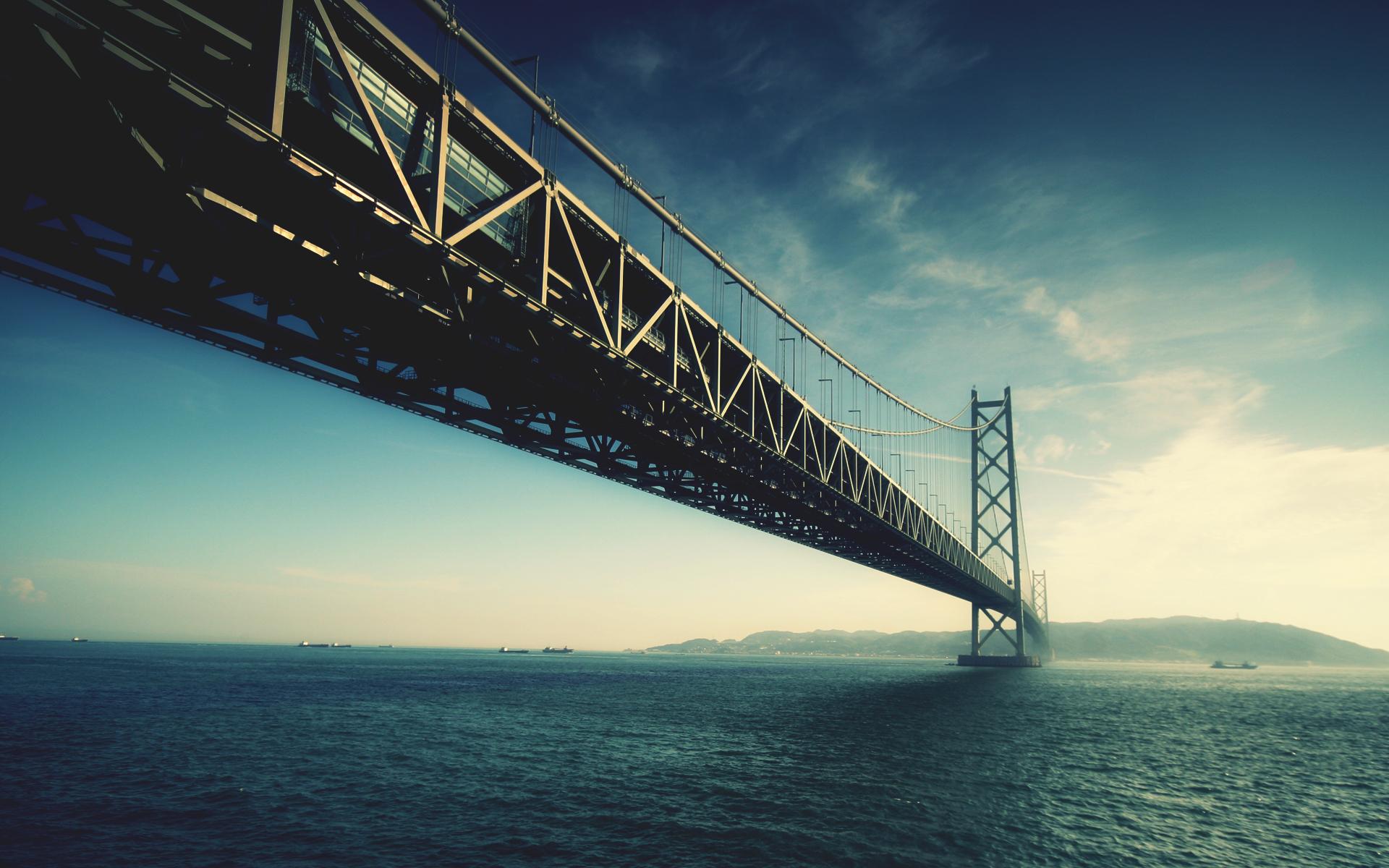 44787 скачать обои Пейзаж, Мосты, Море - заставки и картинки бесплатно