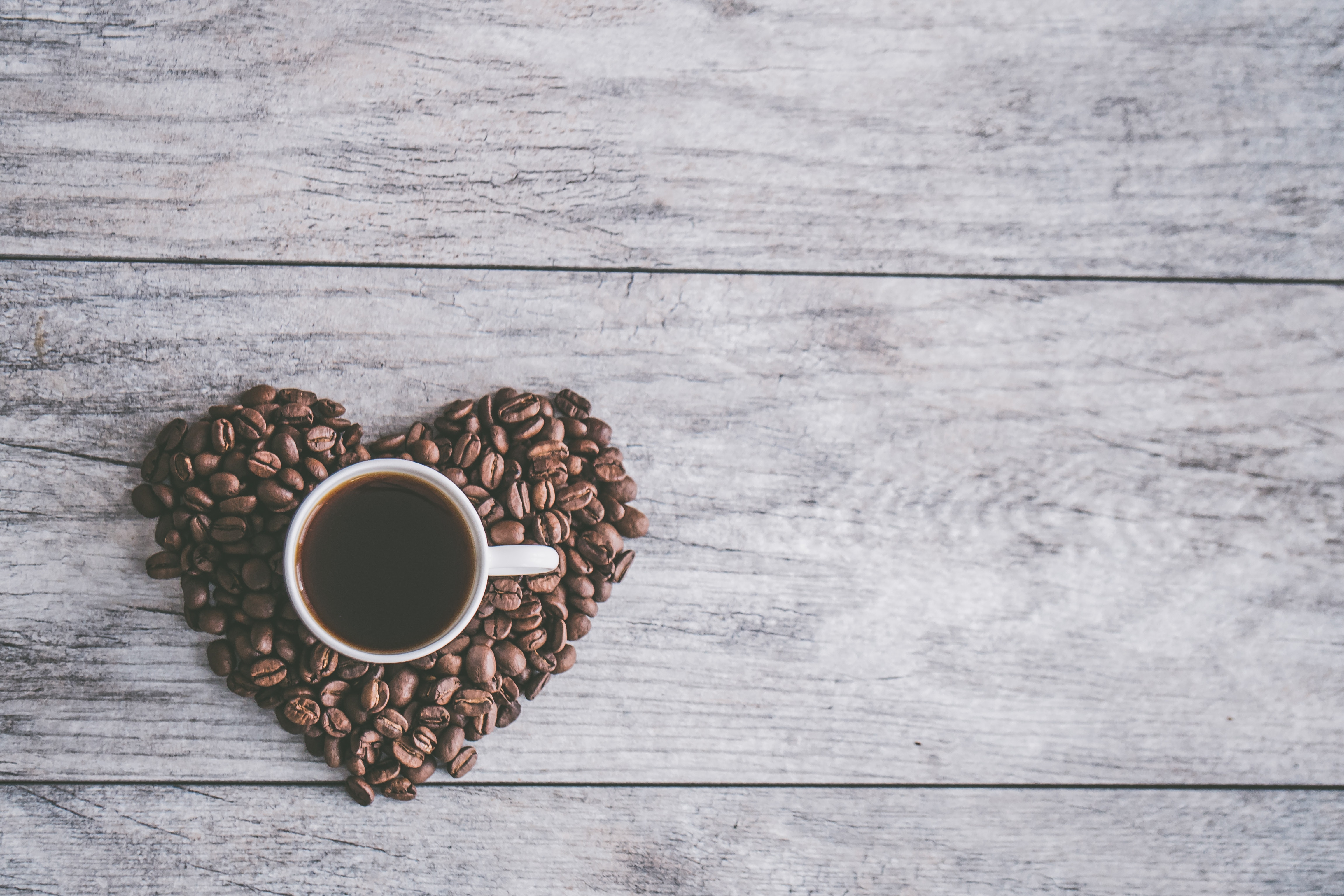 81294 download wallpaper Food, Coffee Beans, Coffee, Heart, Love screensavers and pictures for free
