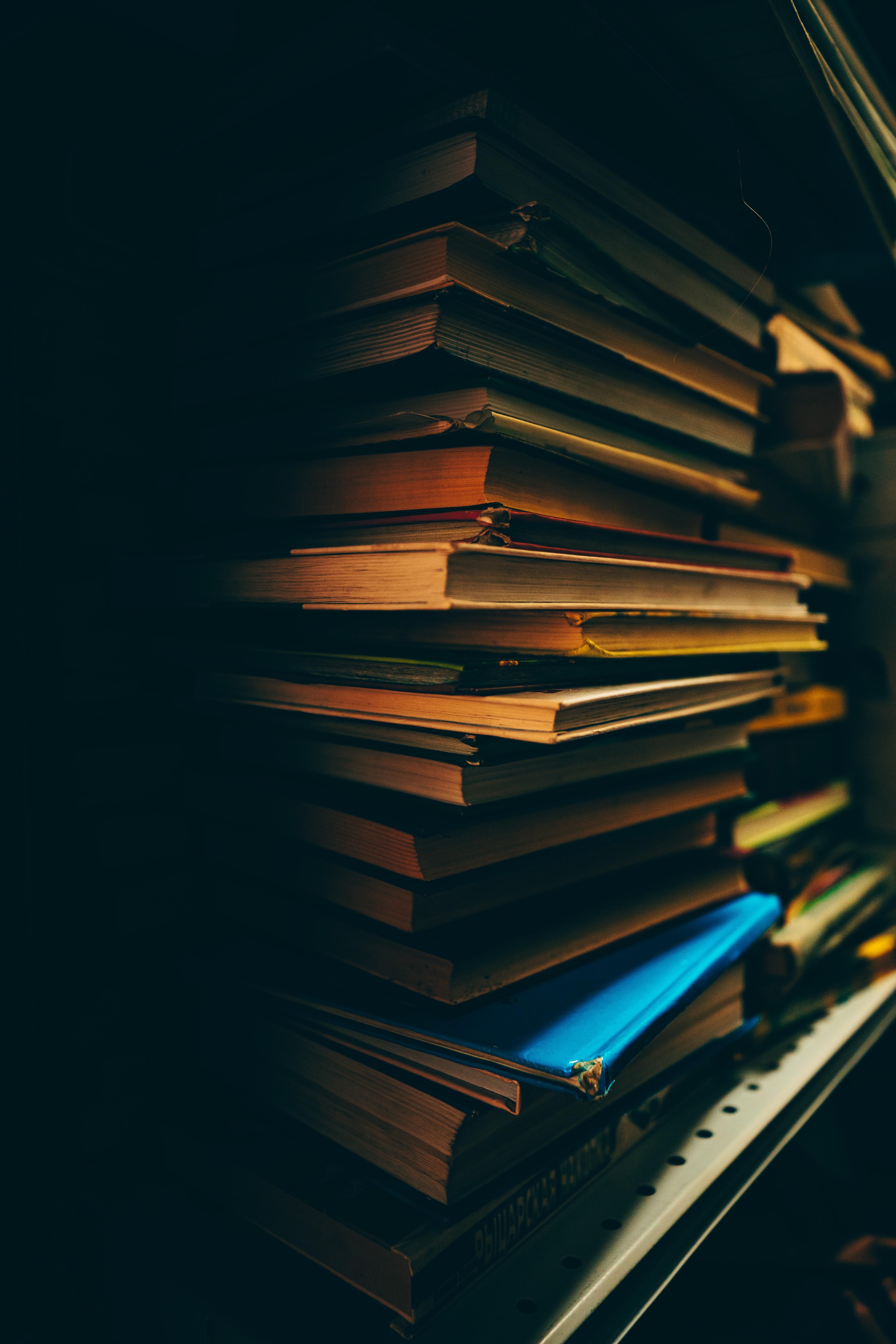 71496 скачать обои Разное, Книги, Темный, Полка, Библиотека - заставки и картинки бесплатно