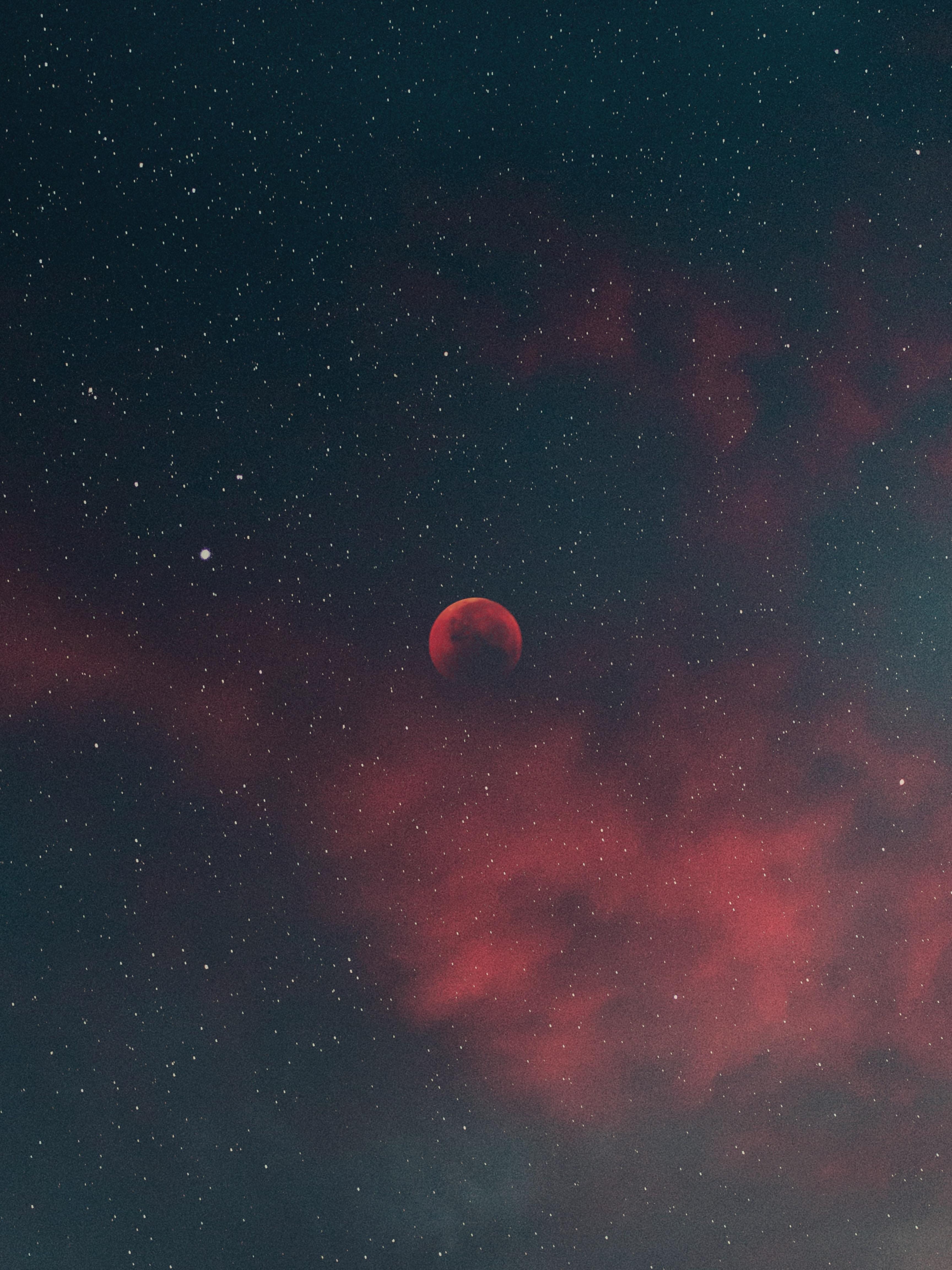 135077 Protetores de tela e papéis de parede Lua em seu telefone. Baixe Lua, Céu, Universo, Estrelas, Noite, Nuvens fotos gratuitamente