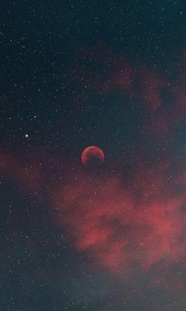 135077 baixar papel de parede Céu, Lua, Nuvens, Noite, Estrelas, Universo - protetores de tela e imagens gratuitamente