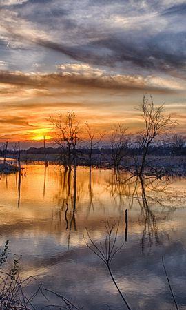 22056 скачать обои Пейзаж, Река, Закат - заставки и картинки бесплатно