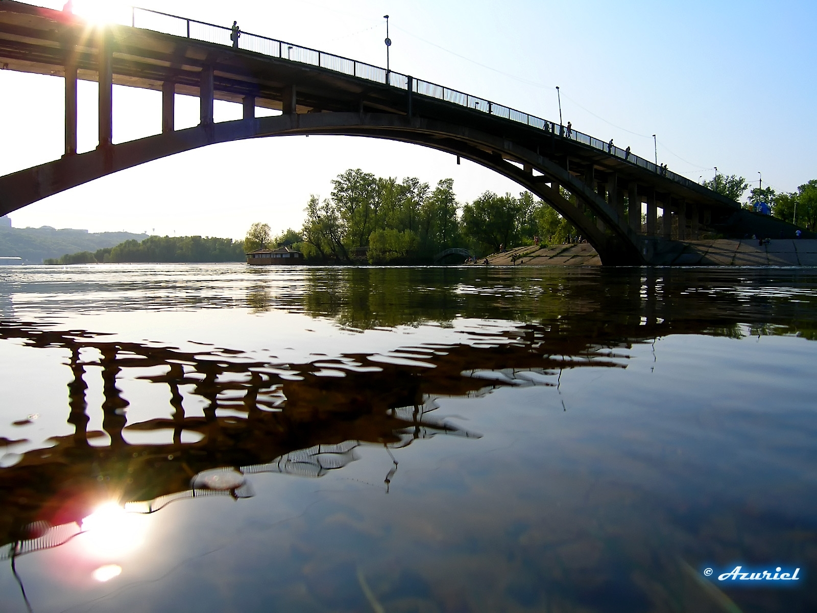 8294 скачать обои Пейзаж, Река, Мосты - заставки и картинки бесплатно