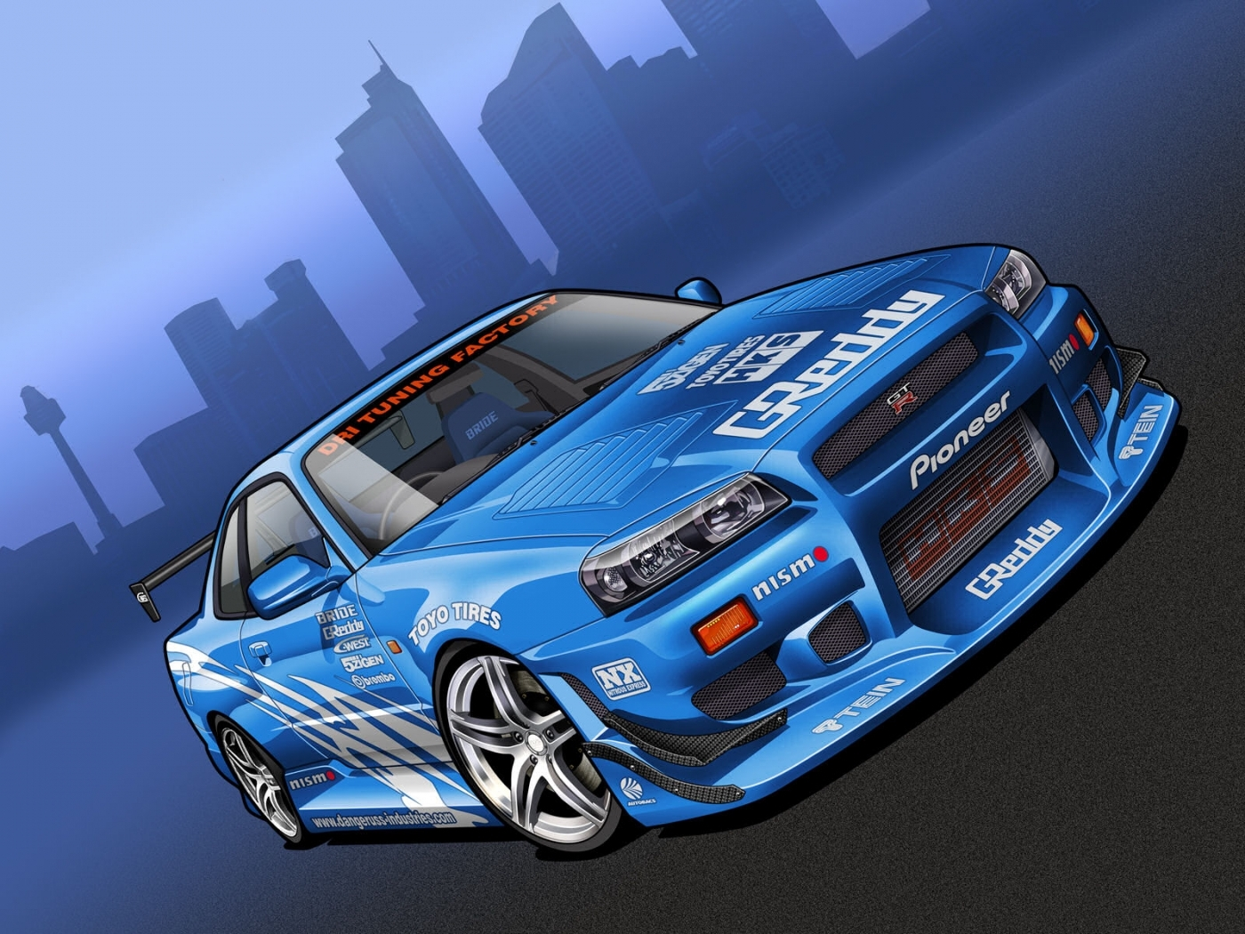 28646 скачать обои Транспорт, Машины, Ниссан (Nissan), Рисунки - заставки и картинки бесплатно