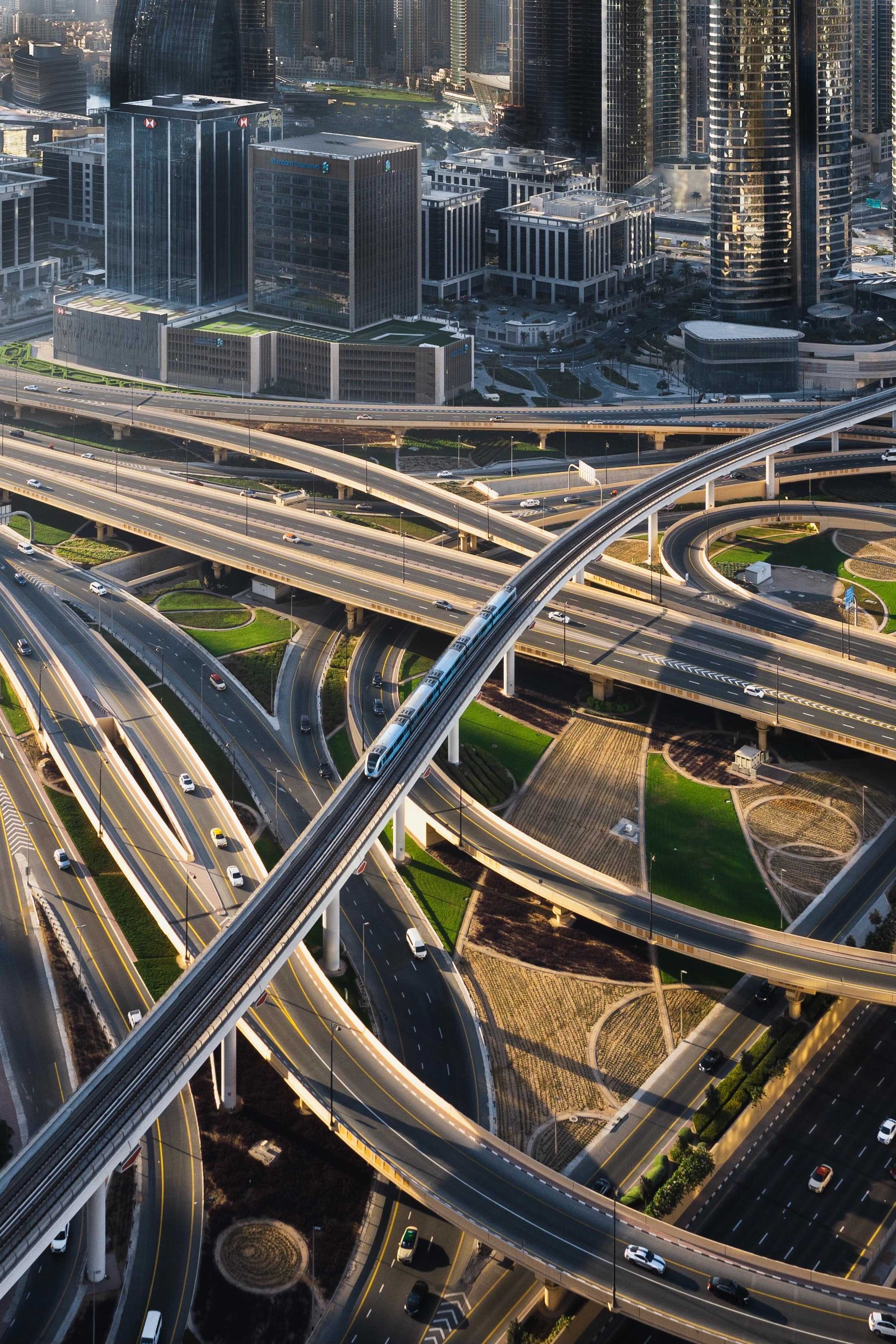 116762 Screensavers and Wallpapers Roads for phone. Download Cities, Roads, City, Building, View From Above, Interchange, Denouement pictures for free