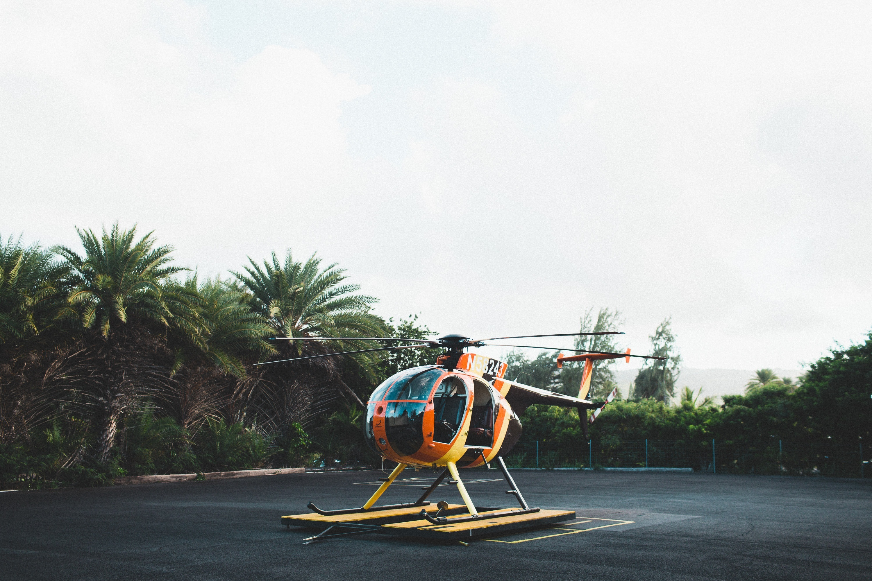 133447 Hintergrundbild herunterladen Palms, Hubschrauber, Verschiedenes, Sonstige, Spielplatz, Plattform - Bildschirmschoner und Bilder kostenlos