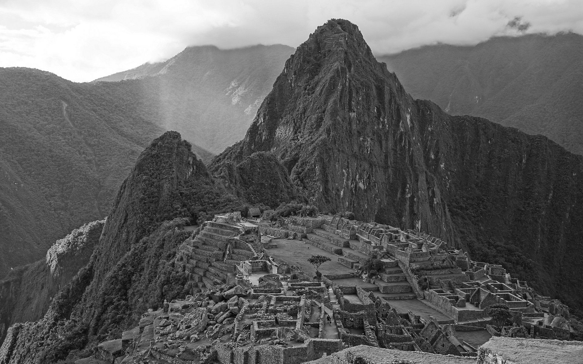 75562 Screensavers and Wallpapers Structure for phone. Download Nature, Mountains, Structure, Bw, Chb, Ruin, Ruins pictures for free
