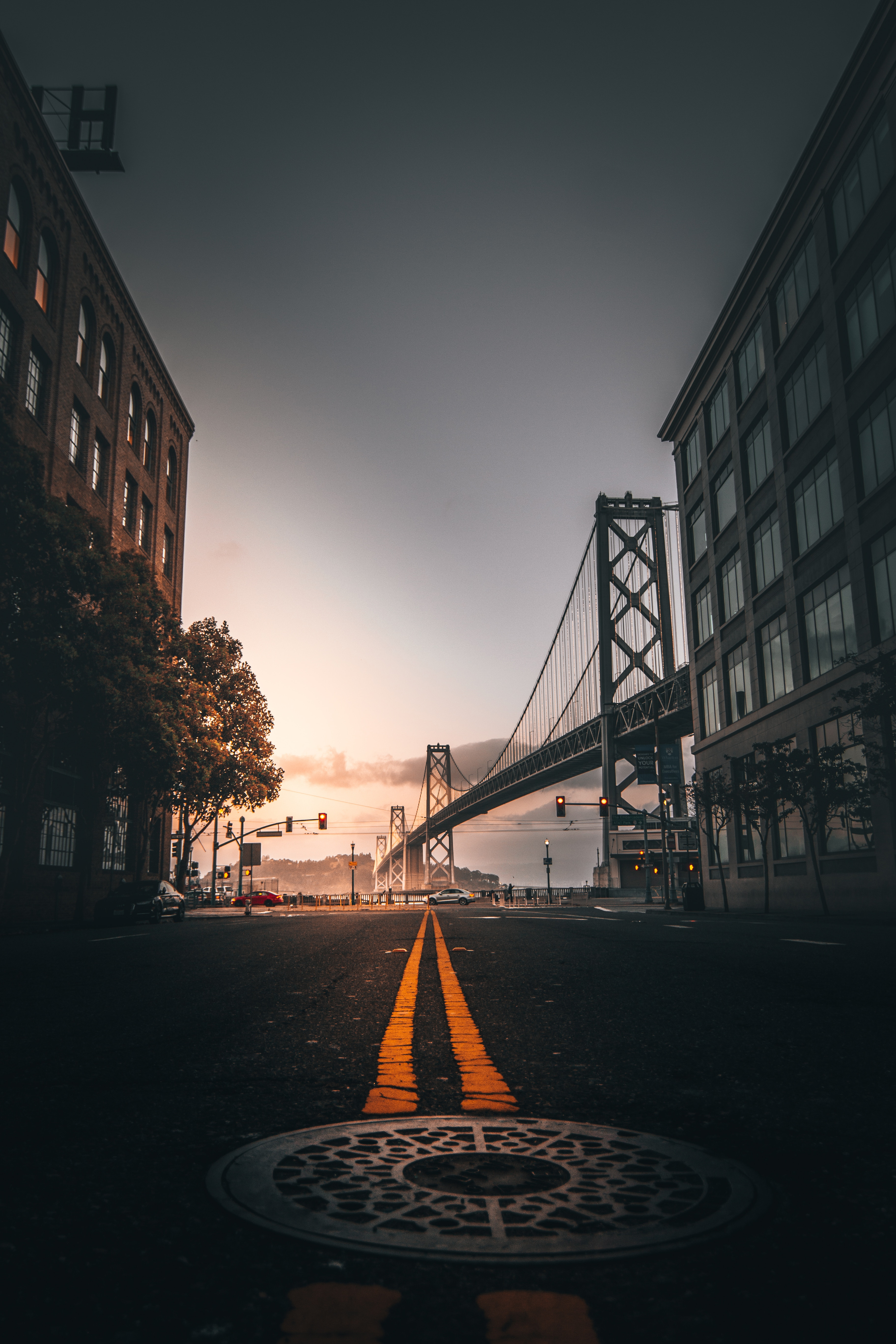 73882 Screensavers and Wallpapers Cities for phone. Download Cities, Building, Usa, Road, Markup, Bridge, United States, San Francisco pictures for free