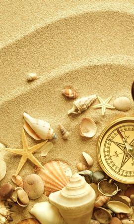 18977 baixar papel de parede Fundo, Areia, Conchas, Natureza Morta - protetores de tela e imagens gratuitamente