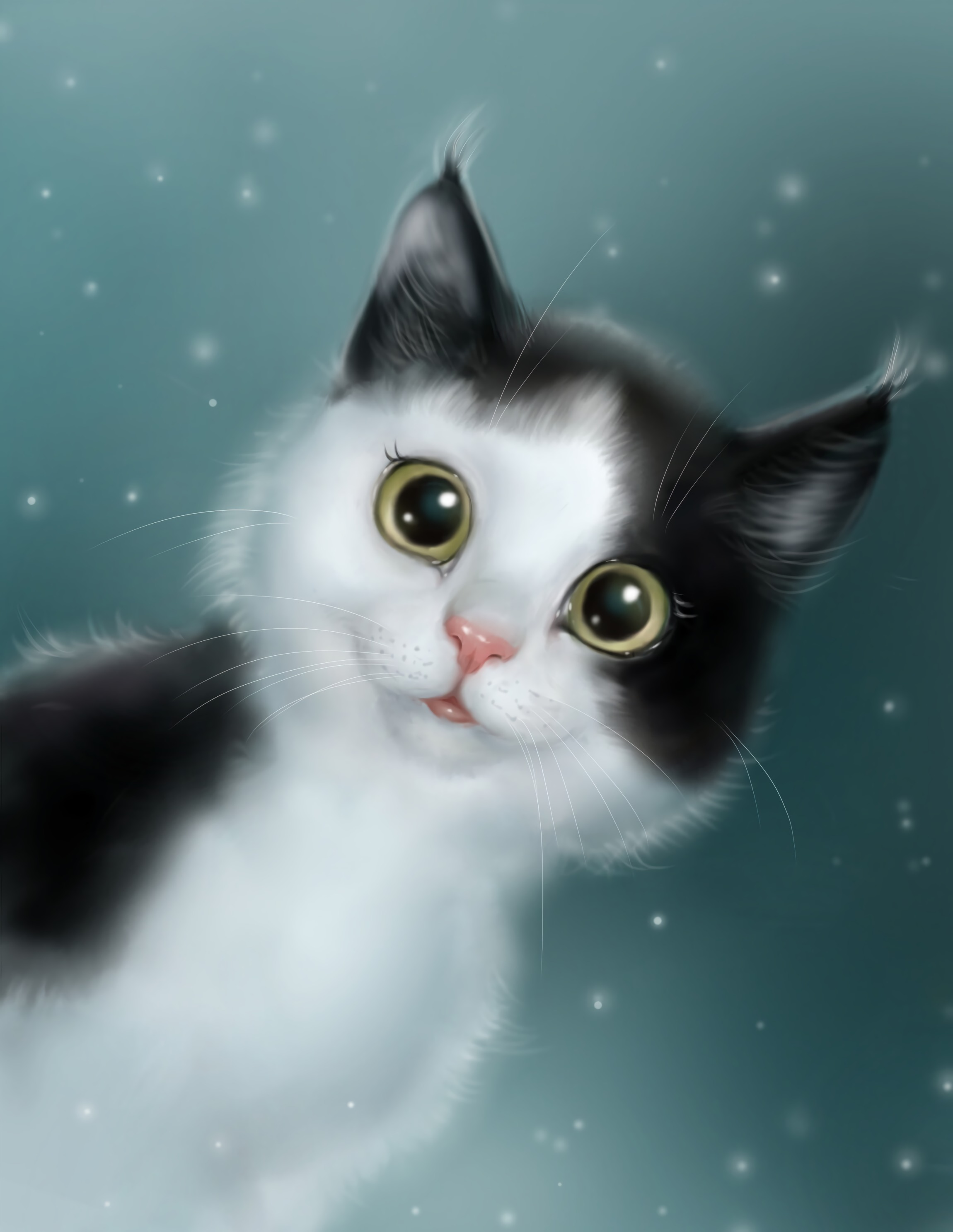 152483 download wallpaper Art, Cat, Pet, Nice, Sweetheart screensavers and pictures for free