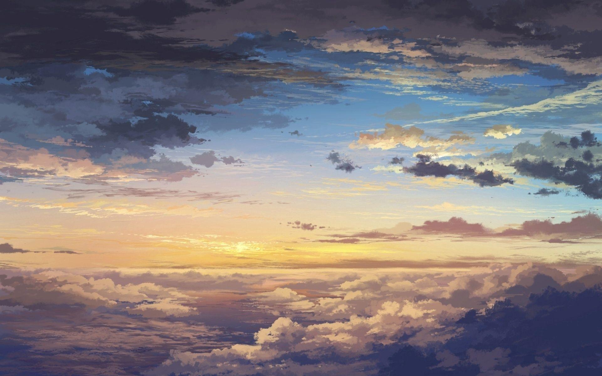77620壁紙のダウンロード自然, 雲, スカイ, アート, 日没, 高さ, 風景-スクリーンセーバーと写真を無料で