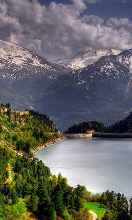37123 скачать обои Пейзаж, Река, Горы - заставки и картинки бесплатно