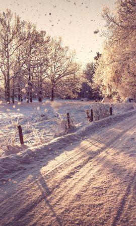 21991 скачать обои Пейзаж, Зима, Дороги, Снег - заставки и картинки бесплатно
