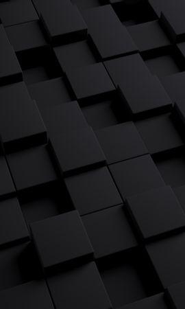 132109 Protetores de tela e papéis de parede 3D em seu telefone. Baixe 3D, Cubo, Escuro, Textura, Formulários, Forma fotos gratuitamente
